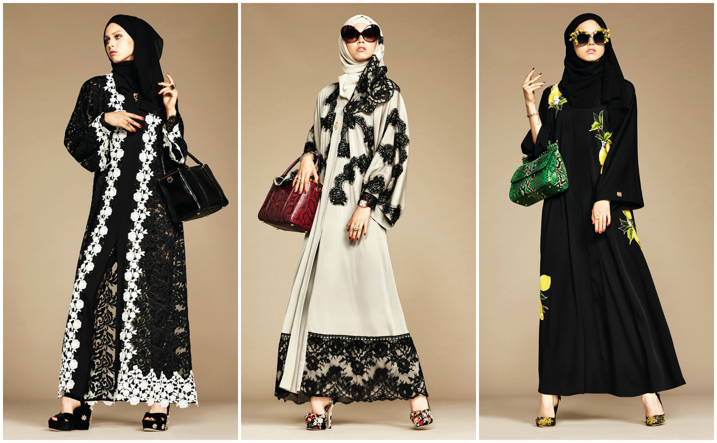 Dolce & Gabbana's new abaya and hijab line, debuted on Style.com/Arabia