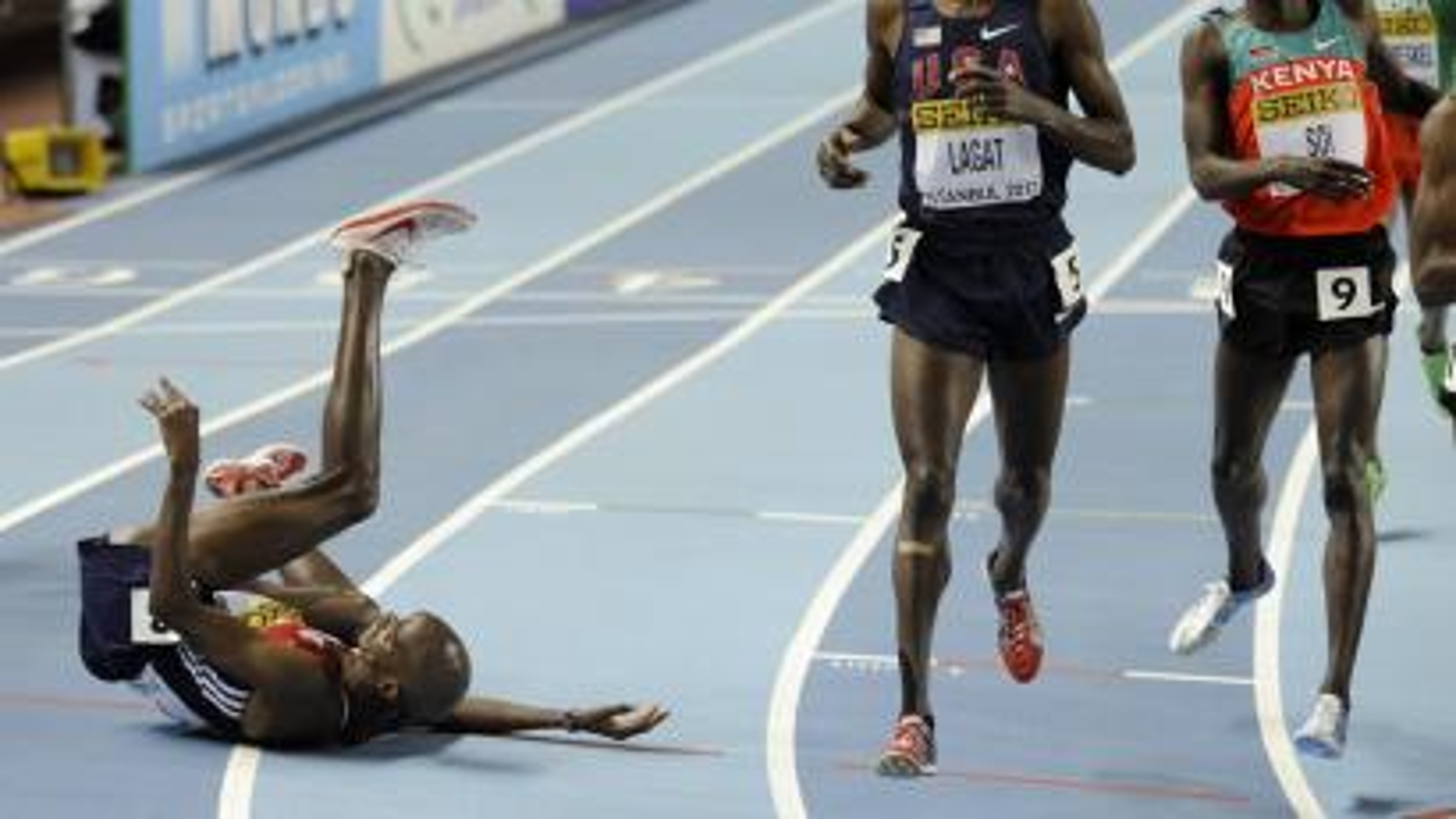 Runner falling