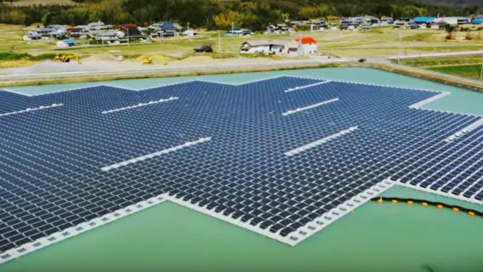 Screen shot of floating solar