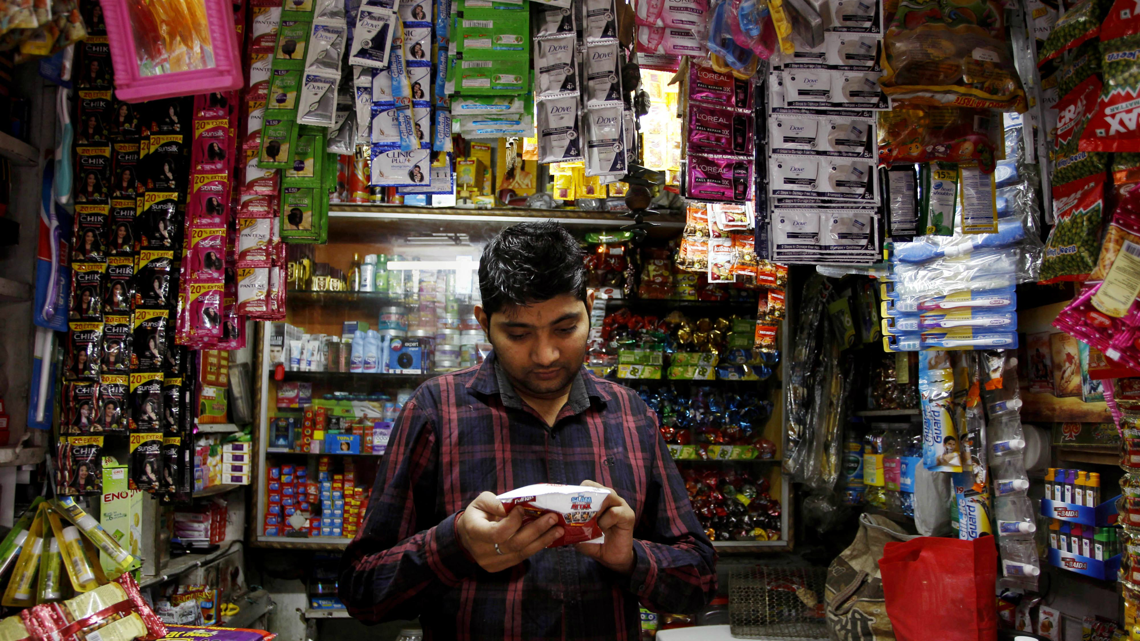 In India, nearly half of Amazon customers pay in cash.