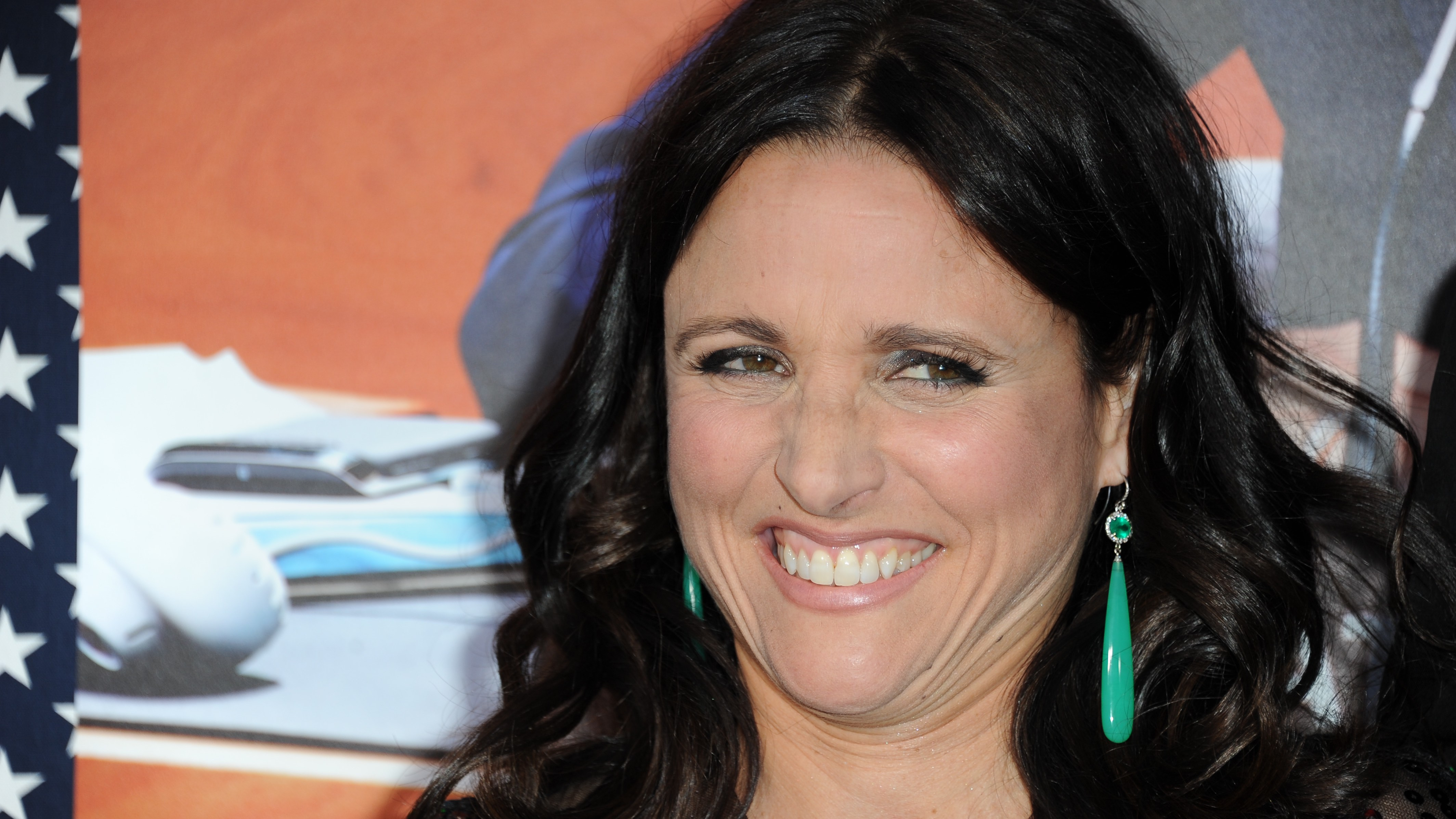 """Julia Louis-Dreyfus arrives at the LA premiere of the 2nd season of """"VEEP"""" at Paramount Studios on Tuesday, April 9, 2013 in Los Angeles. (Photo by Richard Shotwell/Invision/AP)"""