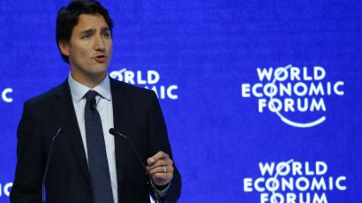 "Justin Trudeau, Prime Minister of Canada attends the session ""The Canadian Opportunity"" during the Annual Meeting 2016 of the World Economic Forum (WEF) in Davos, Switzerland January 20, 2016. REUTERS/Ruben Sprich"