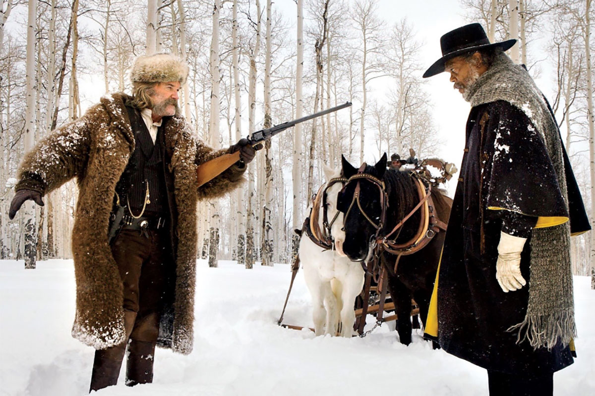 "Kurt Russel and Samuel L. Jackson in ""The Hateful Eight"""