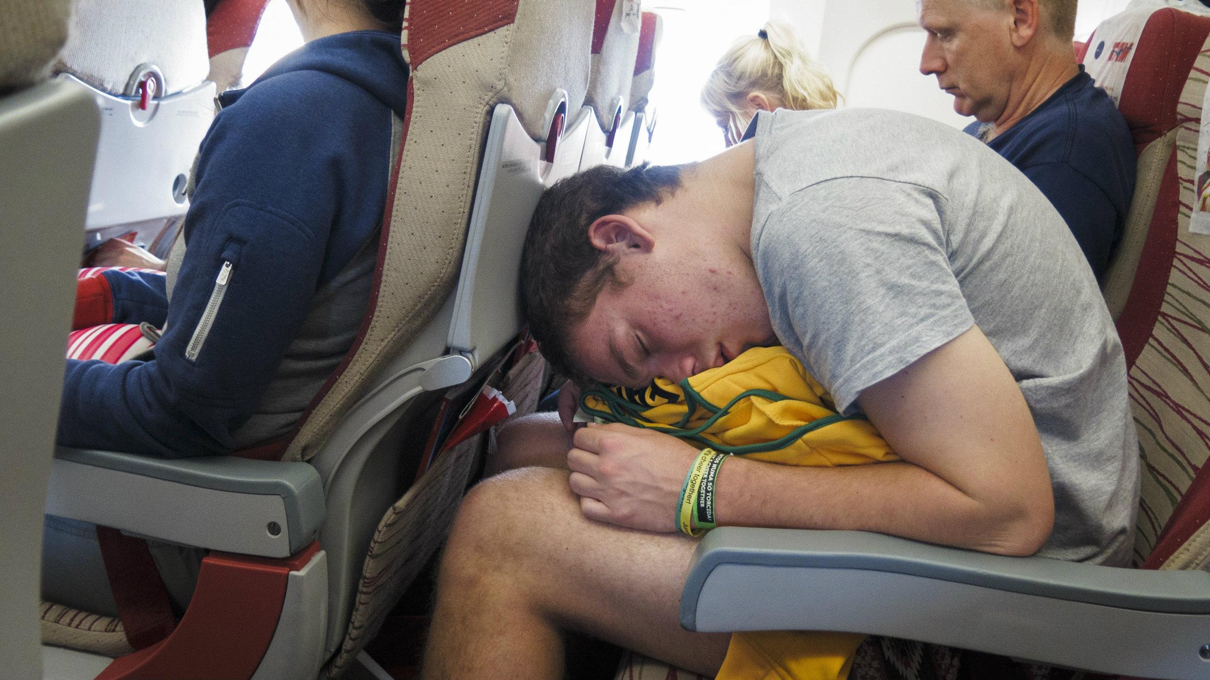 man on airplane