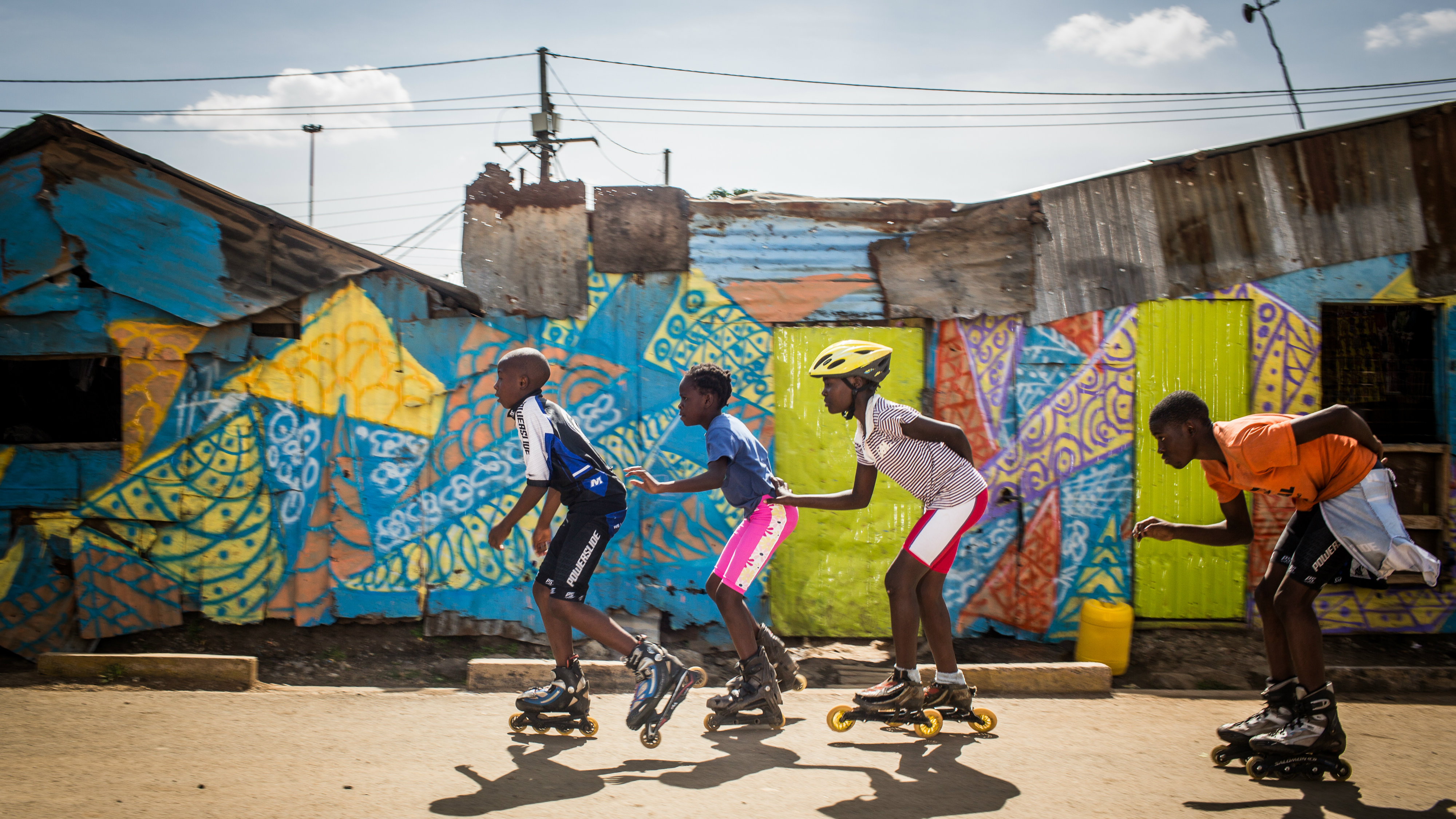 Korogocho skaters are taking advantage of some of the best streets in one of Nairobi's poorest slums.