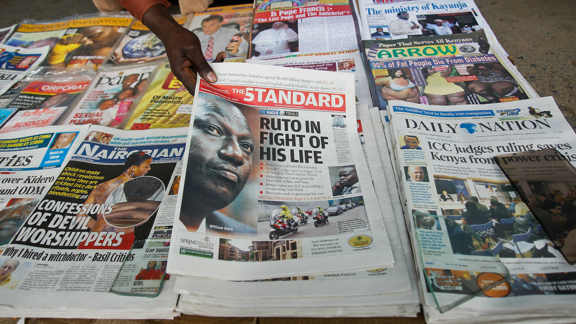 Kenya's largest daily by circulation has fired a journalist after he published an editorial critical of the president.