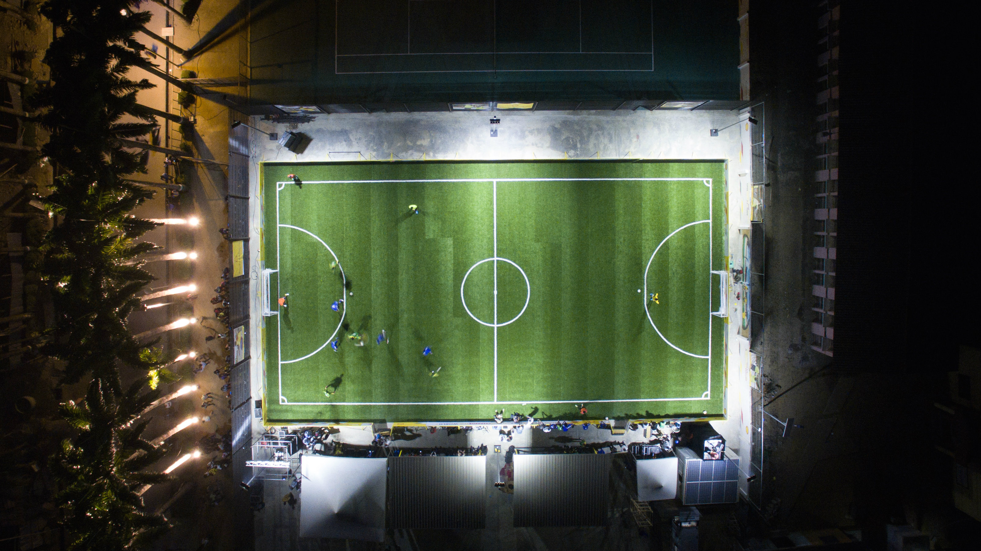 A soccer pitch in Lagos, Nigeria powered by Pavegen technology