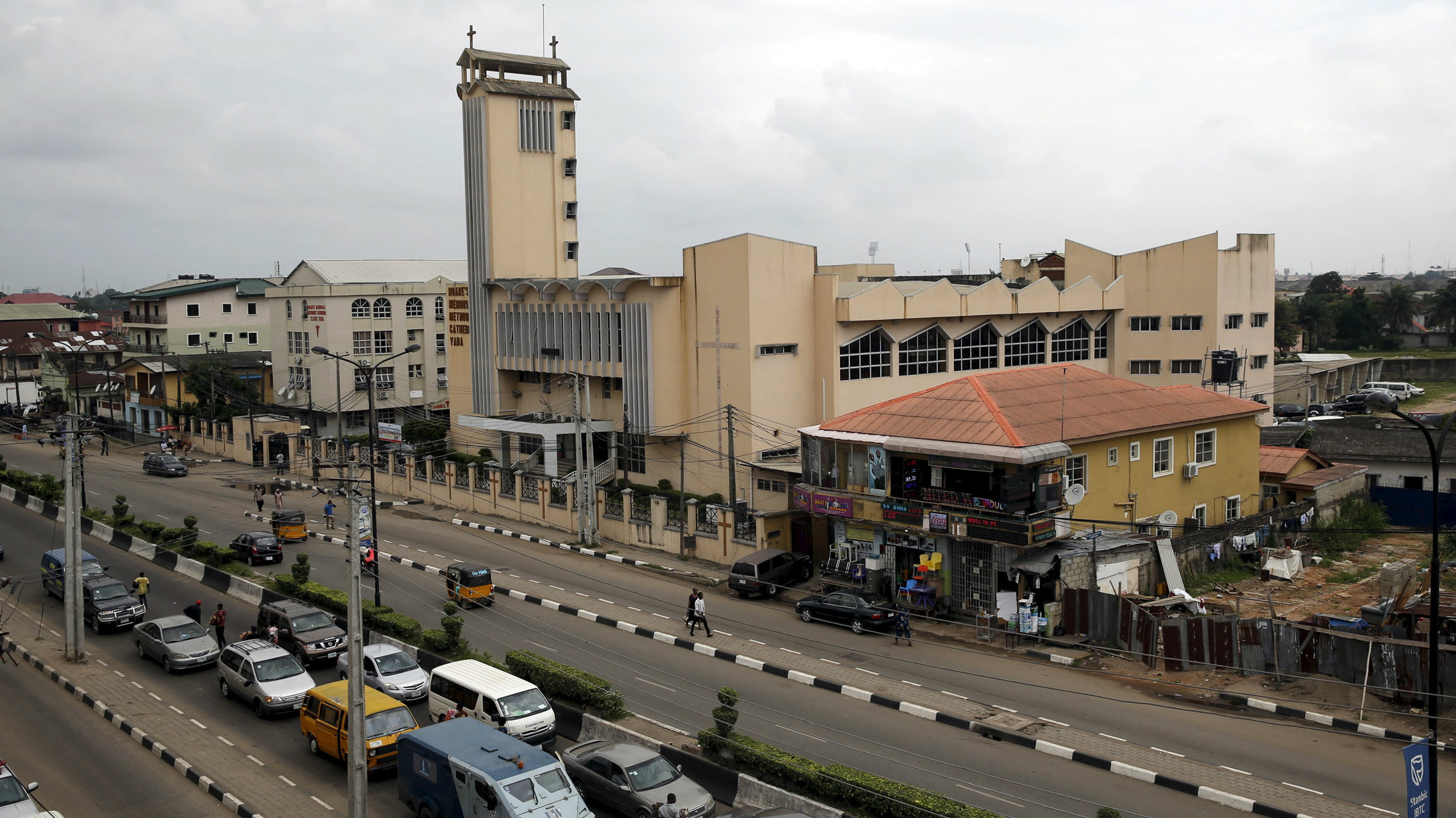 A view of the Yaba district in Lagos June 25, 2015.