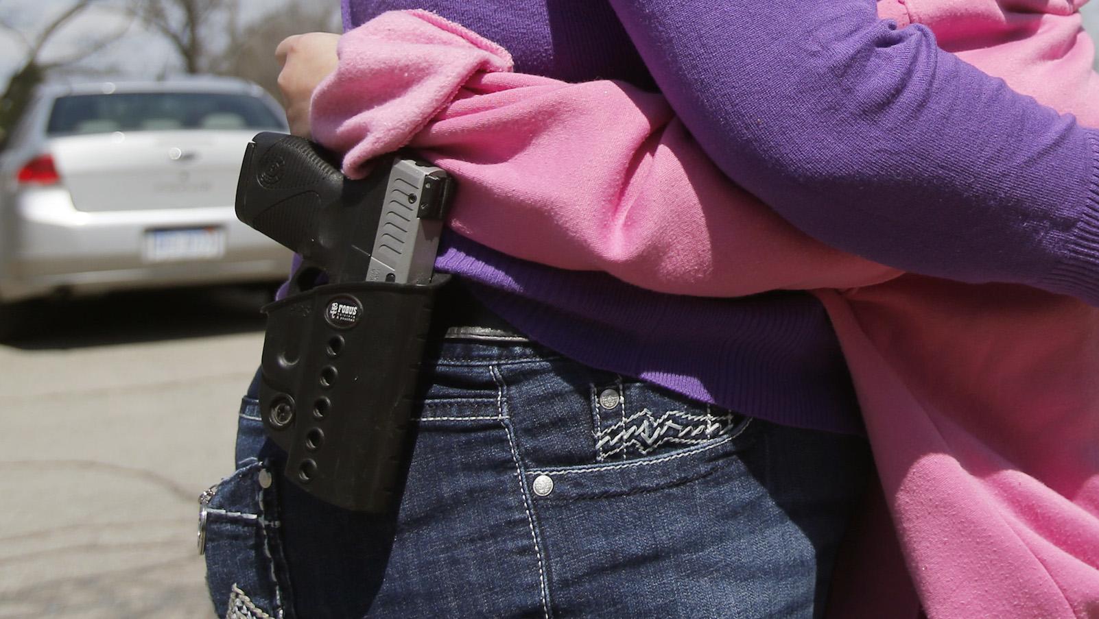 Mommy's got a gun.