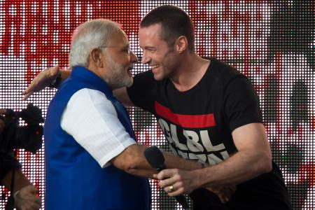 Modi-Hollande-India-France-Hugh Jackman