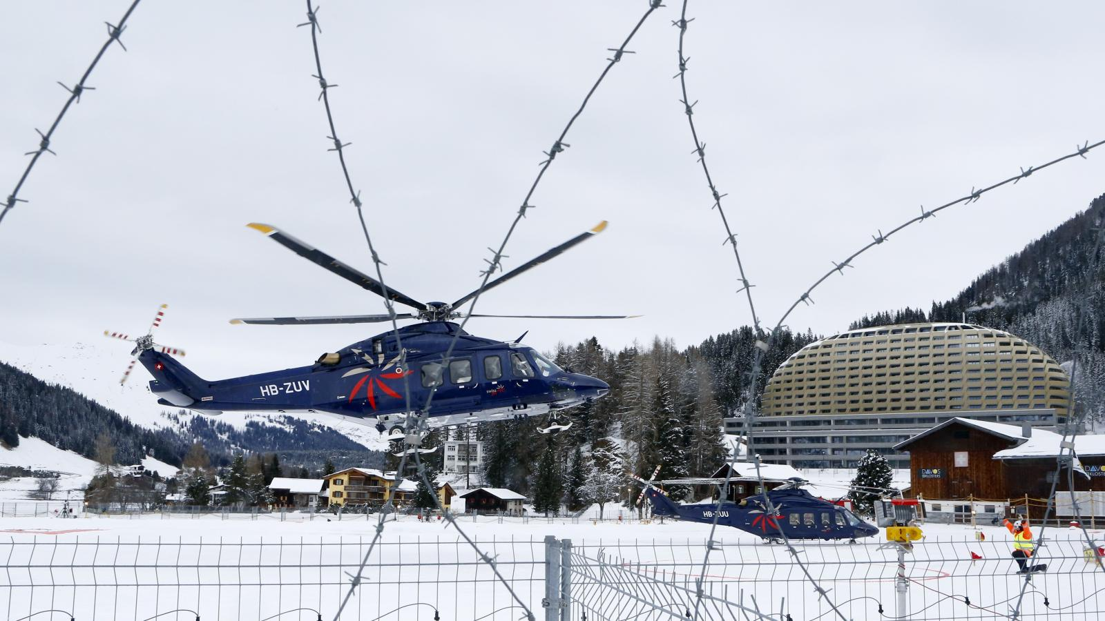 We brought an antenna to Davos to track private air travel