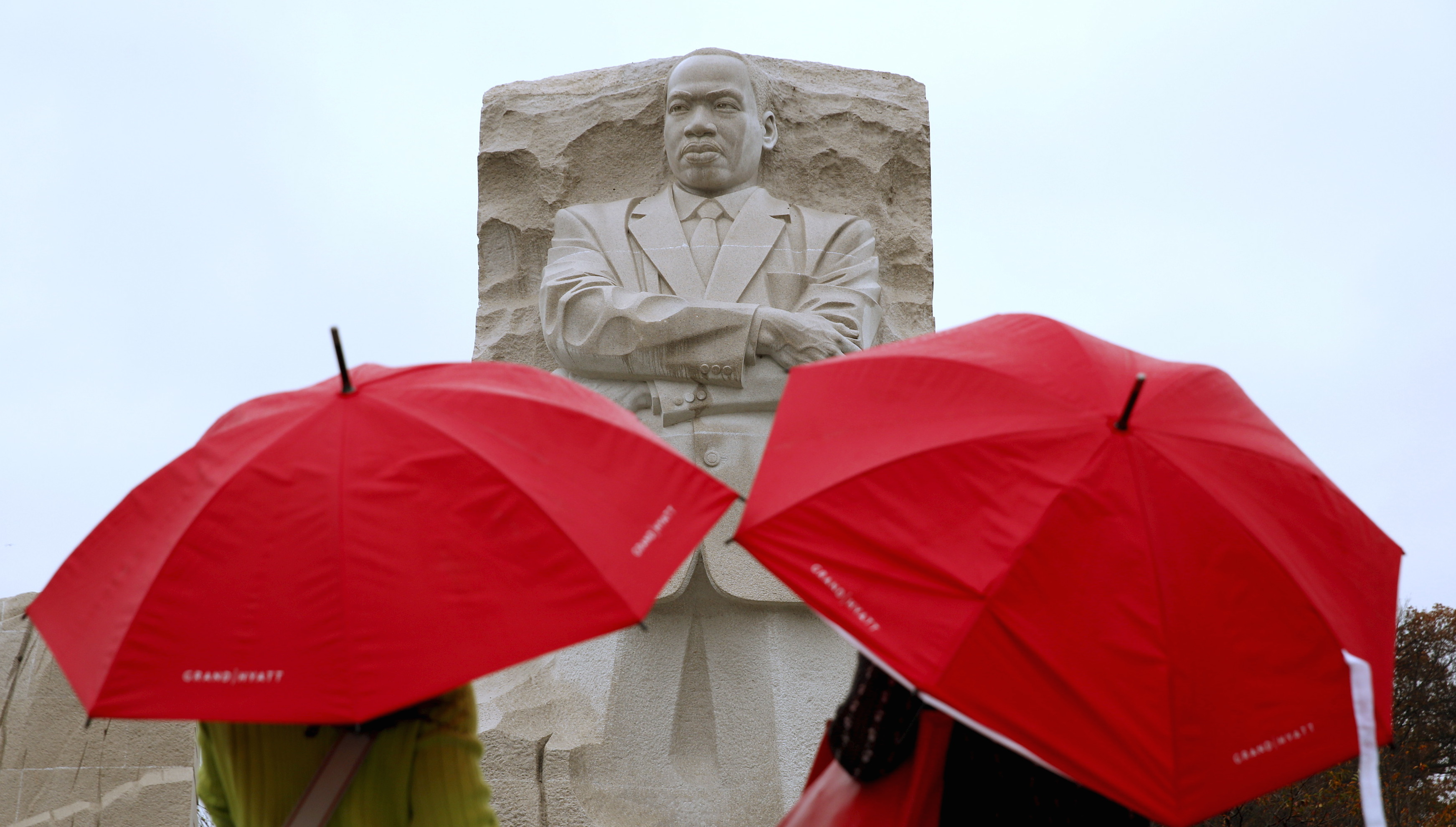 Sightseers tour the Martin Luther King Jr. Memorial in Washington