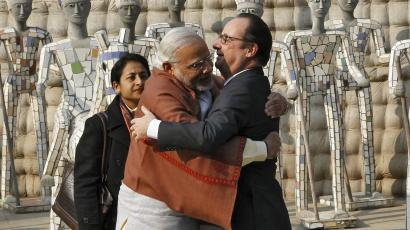 Narendra Modi-Republic Day-Francoise Hollande