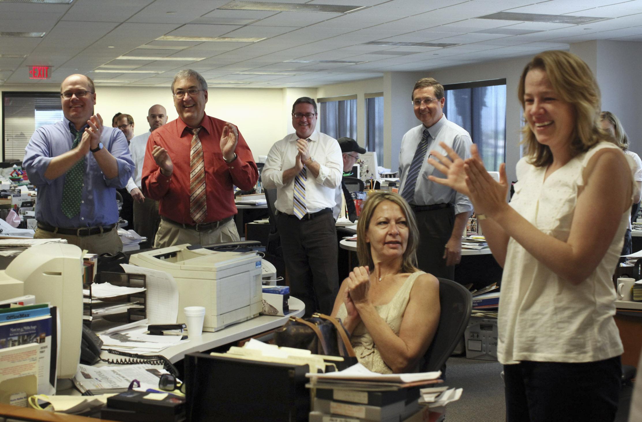 happy newsroom