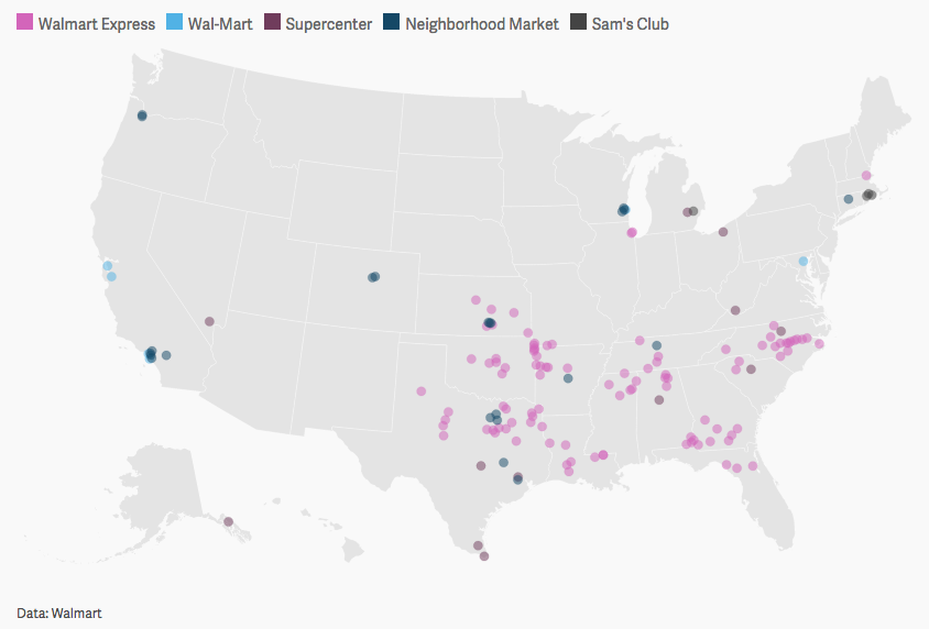 List And Map Of Walmart Store Closings In The Us Quartz