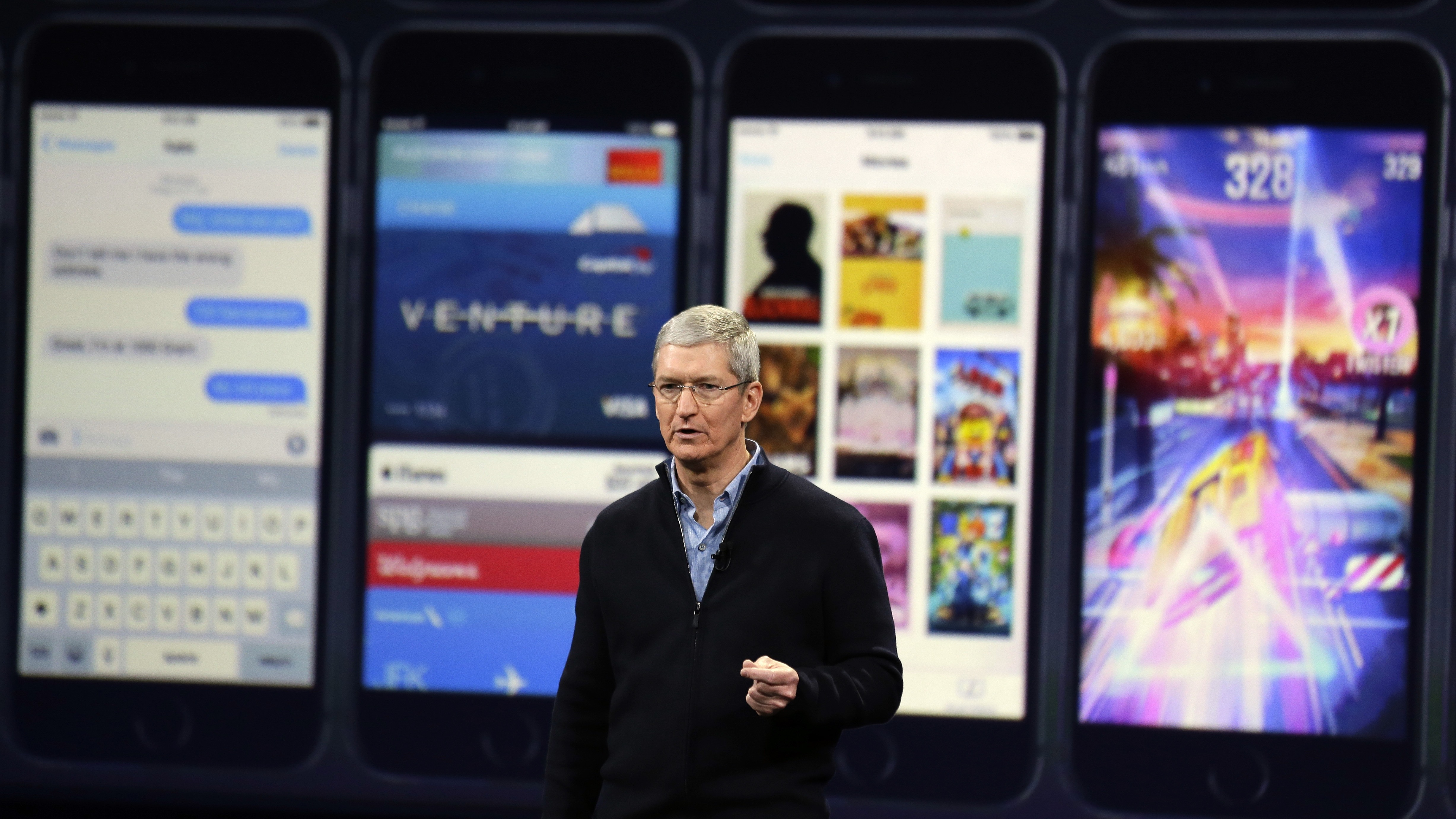 Apple CEO Tim Cook speaks during an Apple event on Monday, March 9, 2015, in San Francisco. (AP Photo/Eric Risberg)