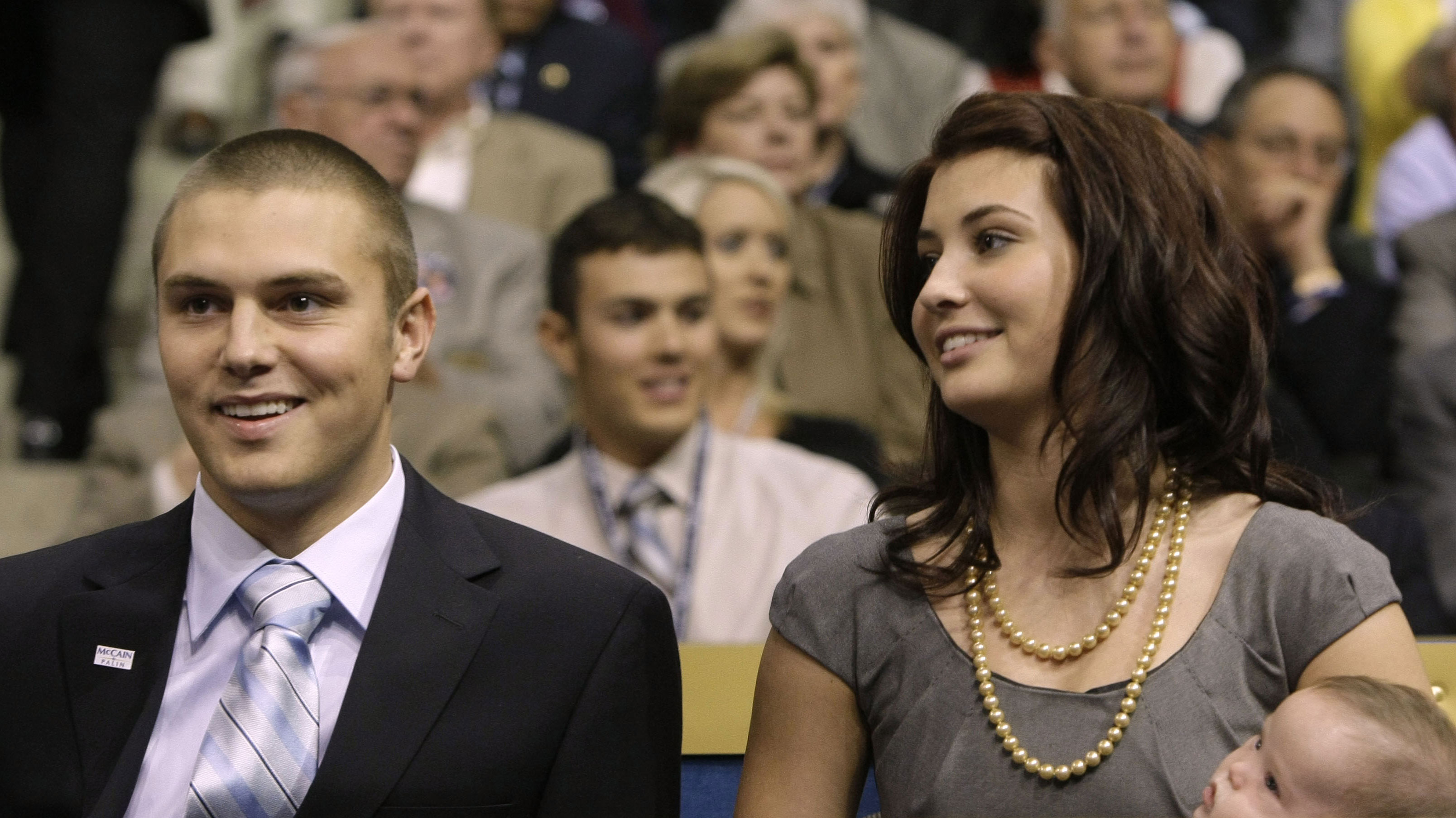 Track Palin, son of Sarah Palin, during the Republican National Convention in St. Paul, Minn., Wednesday, Sept. 3, 2008. (AP Photo/Charles Rex Arbogast)