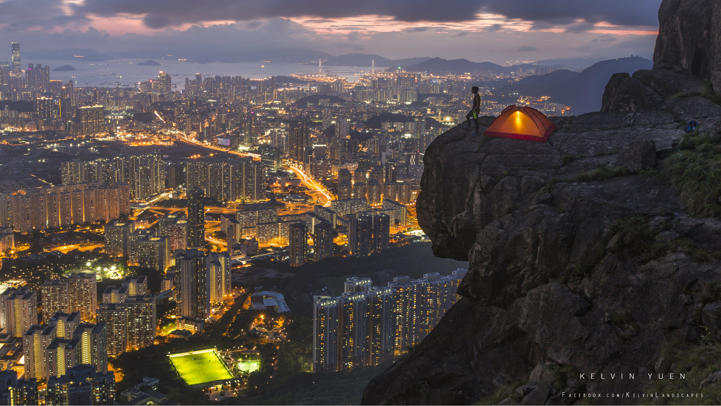 Kelvin took the picture that won a National Geographic contest from Kowloon Peak.