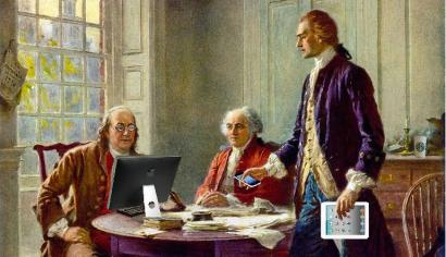 Founding Fathers with computers