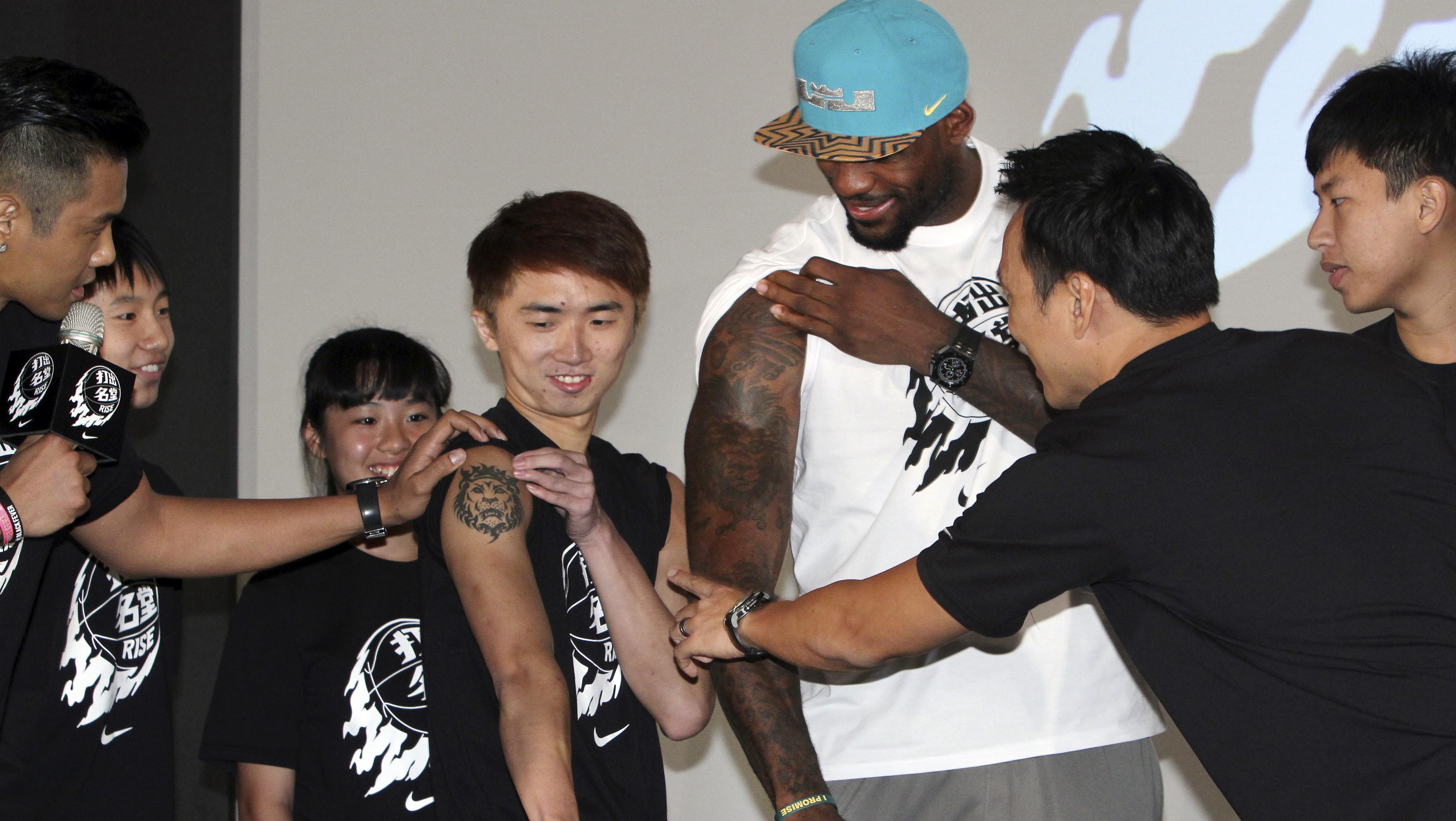 Who owns LeBron James' tattoos? — Quartz