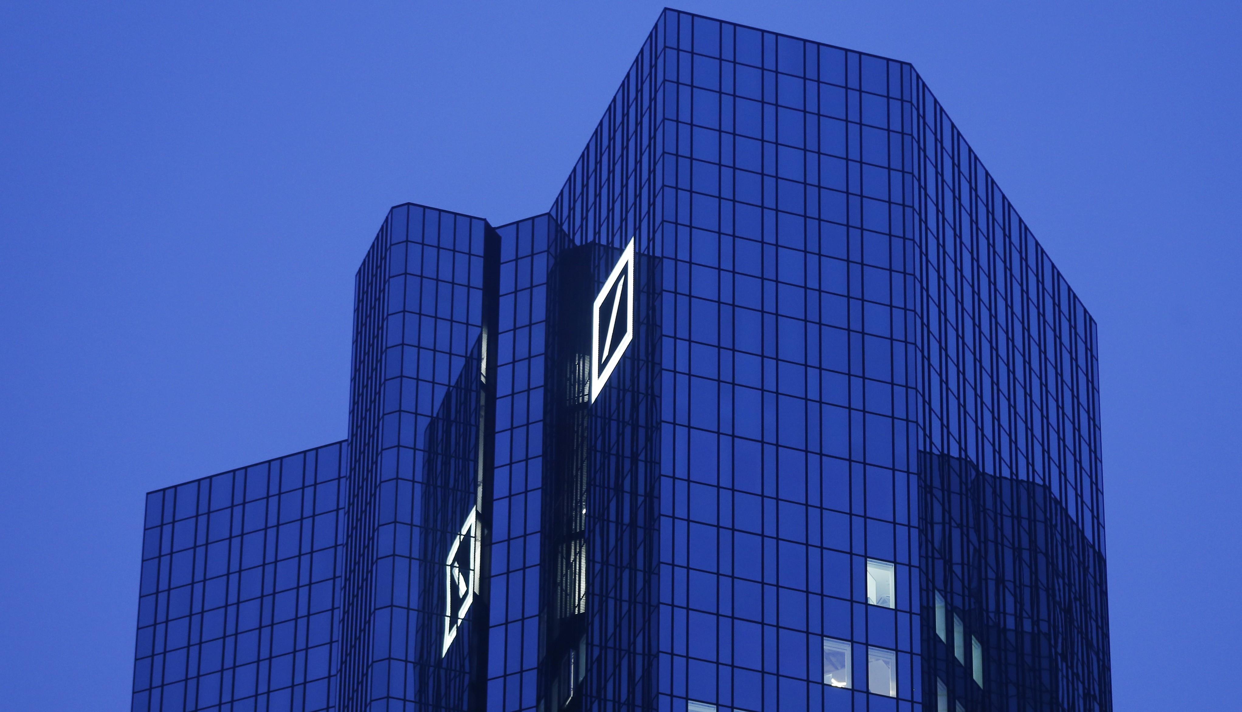 Headquarters of Deutsche Bank is photographed in Frankfurt, Germany, Thursday, Dec. 10, 2015.