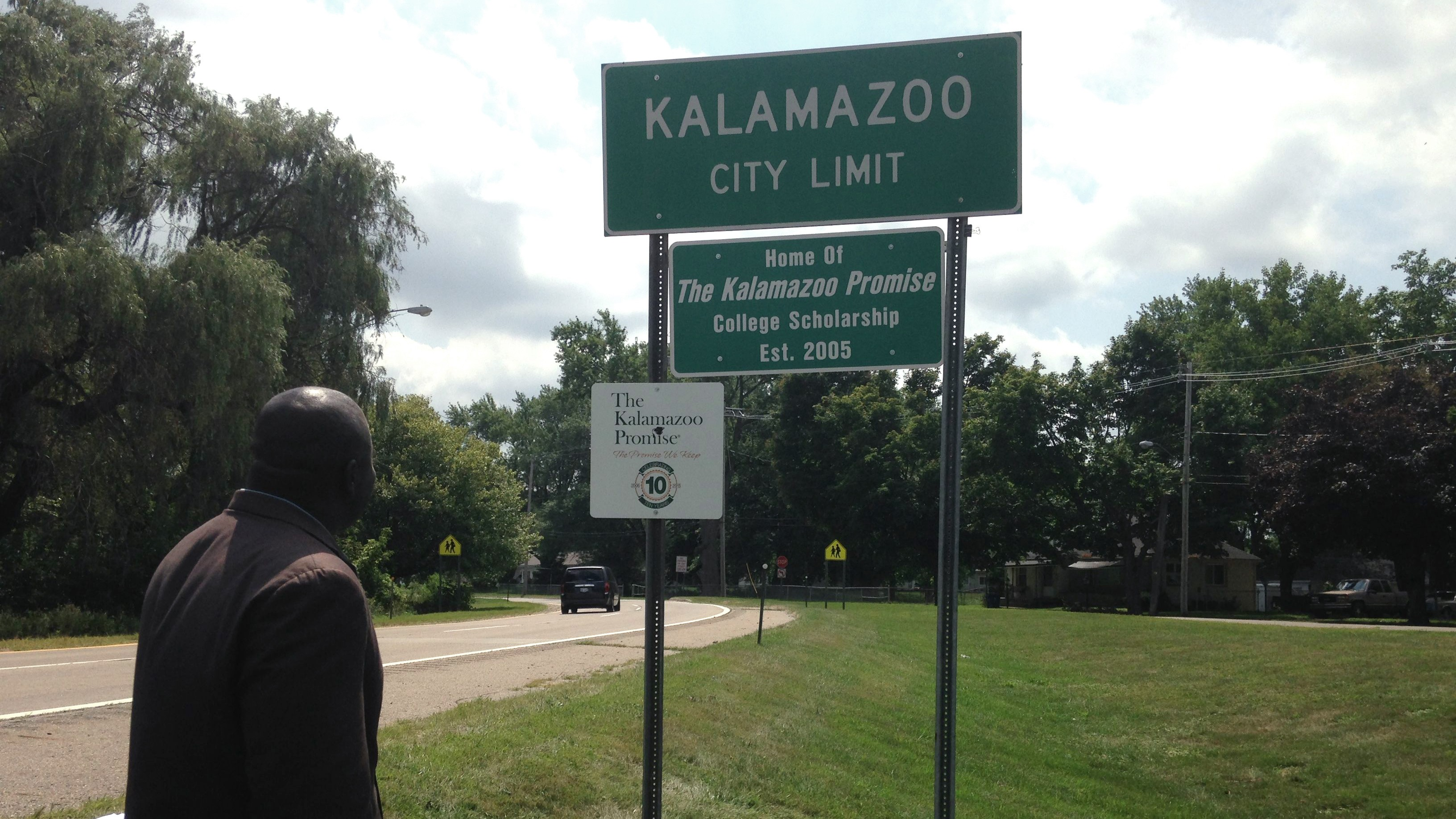 A scene from Kalamazoo on a better day.