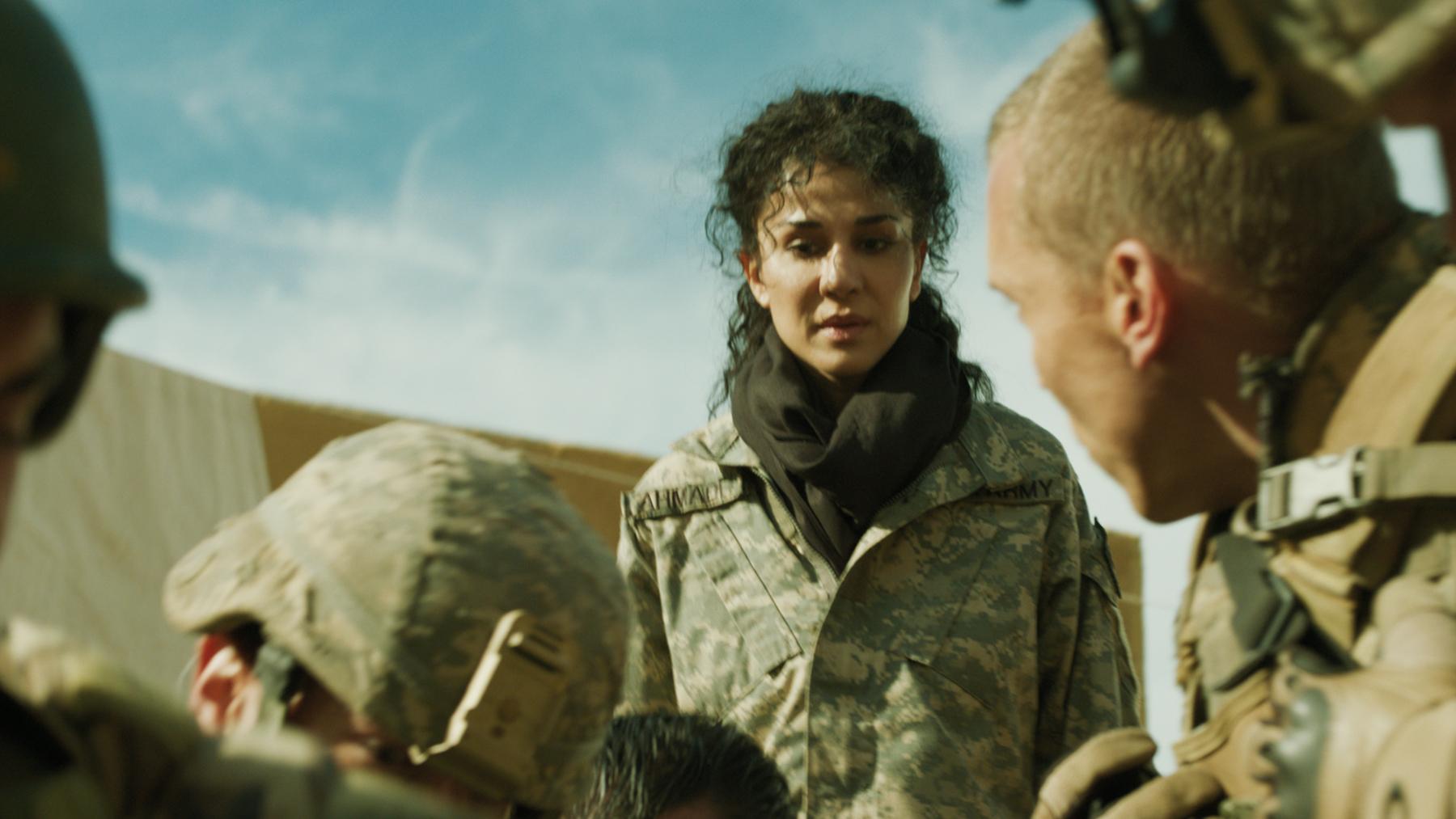 Layla Alizada portrays a US military interpreter in the film Day One.