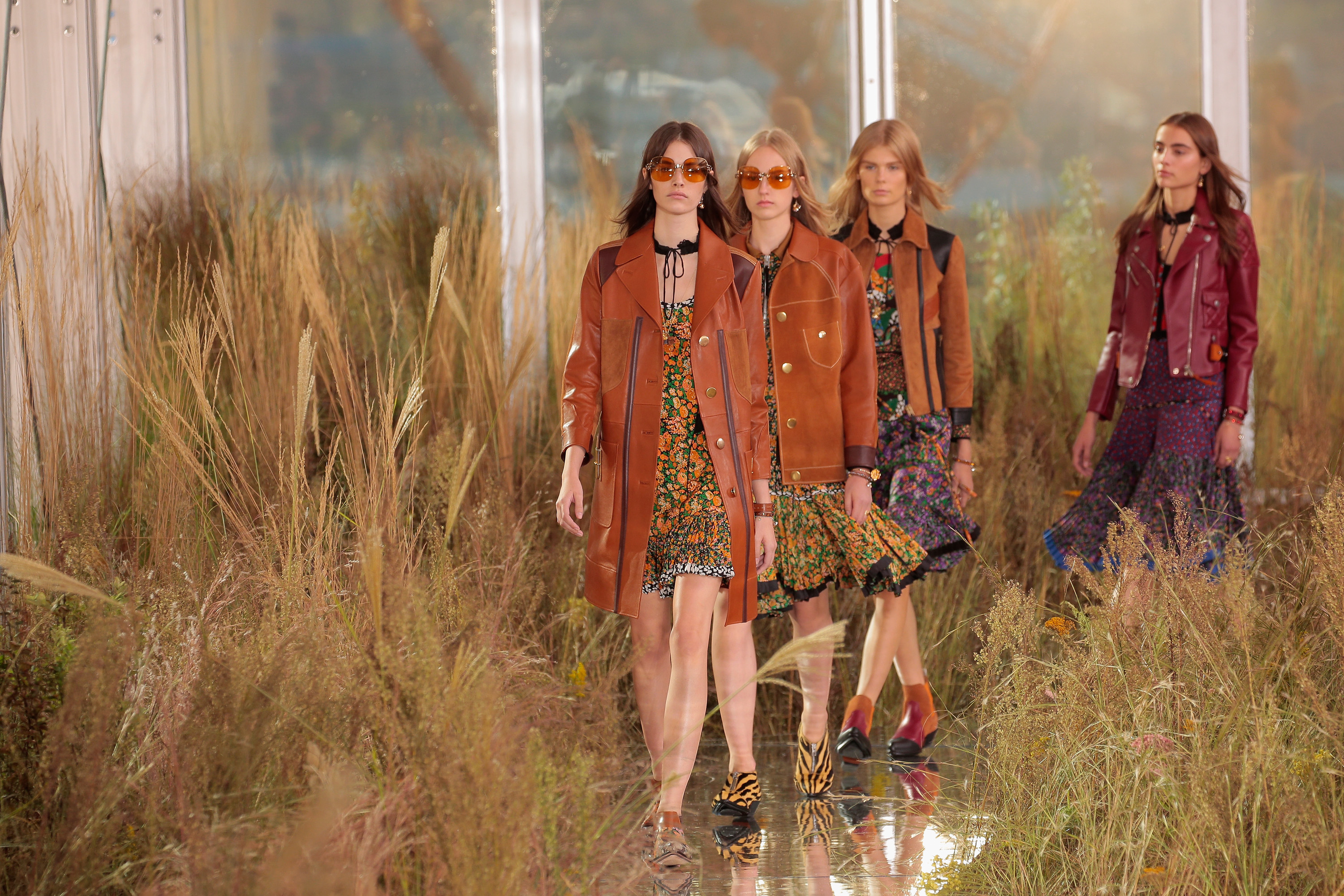 Models walk the runway at the Coach Women's Spring 2016 fashion show during New York Fashion Week at The Highline on September 15, 2015 in New York City.