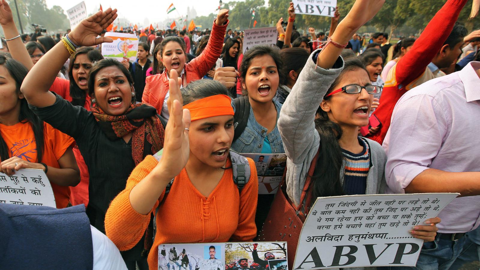 JNU-ABVP-SFI-DSU-Student protests-University