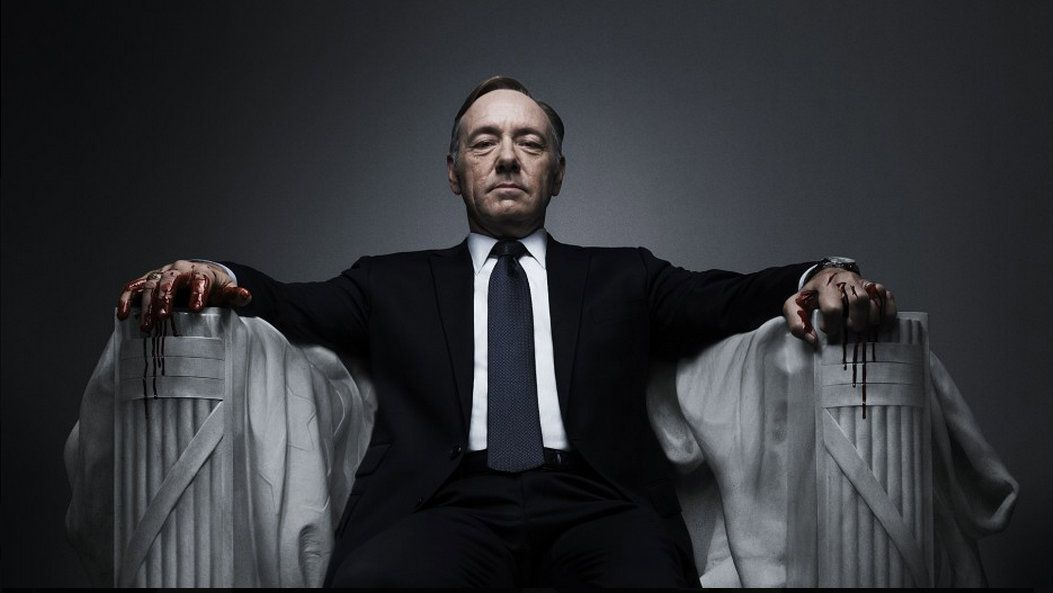 "Kevin Spacey as Frank Underwood in Netflix's ""House of Cards."""