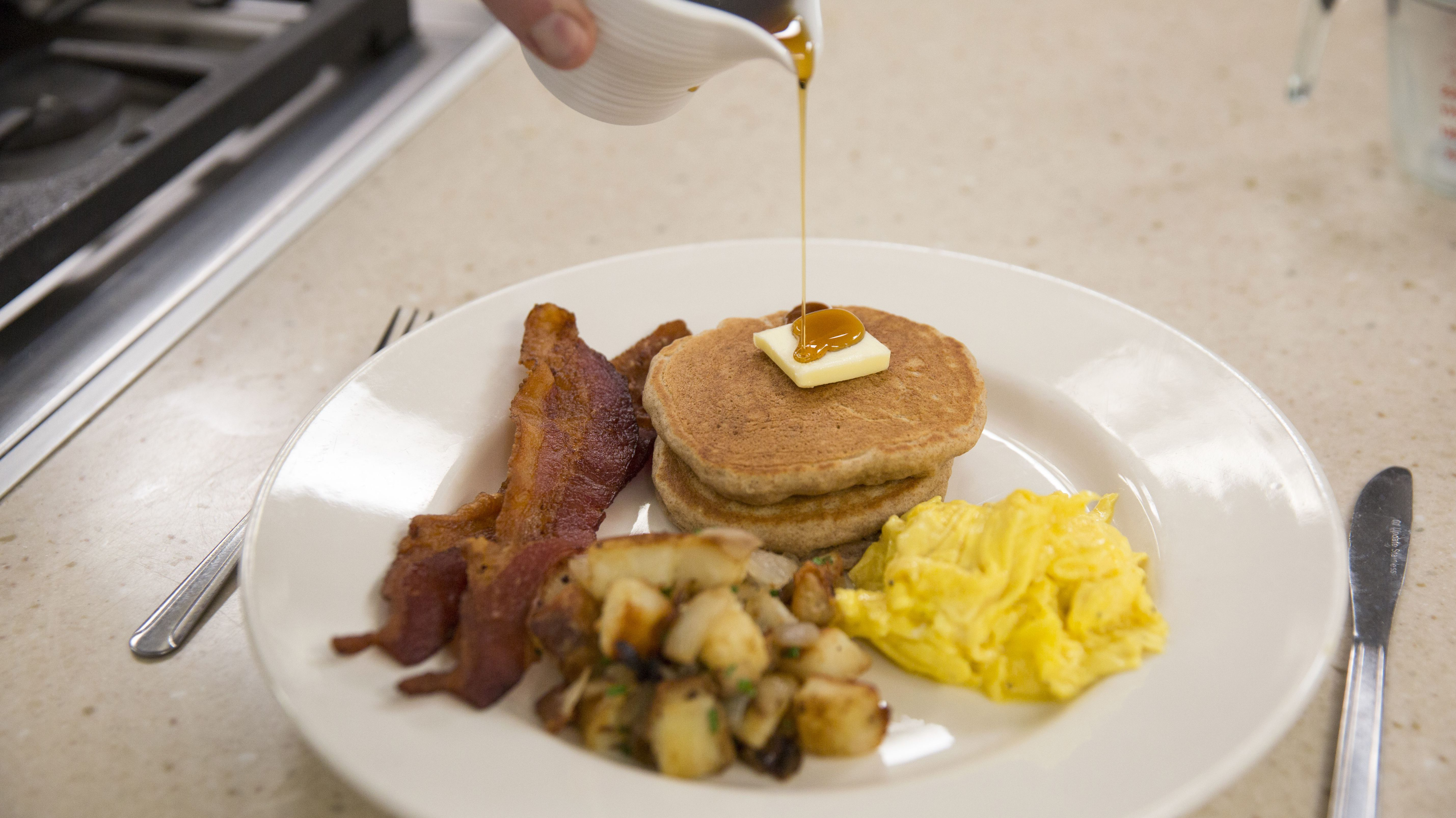 February 17, 2016 | Brookline, MA A look inside America's Test Kitchen with Dan Souza who teaches us how to make the perfect American breakfast. Kieran Kesner for Quartz.