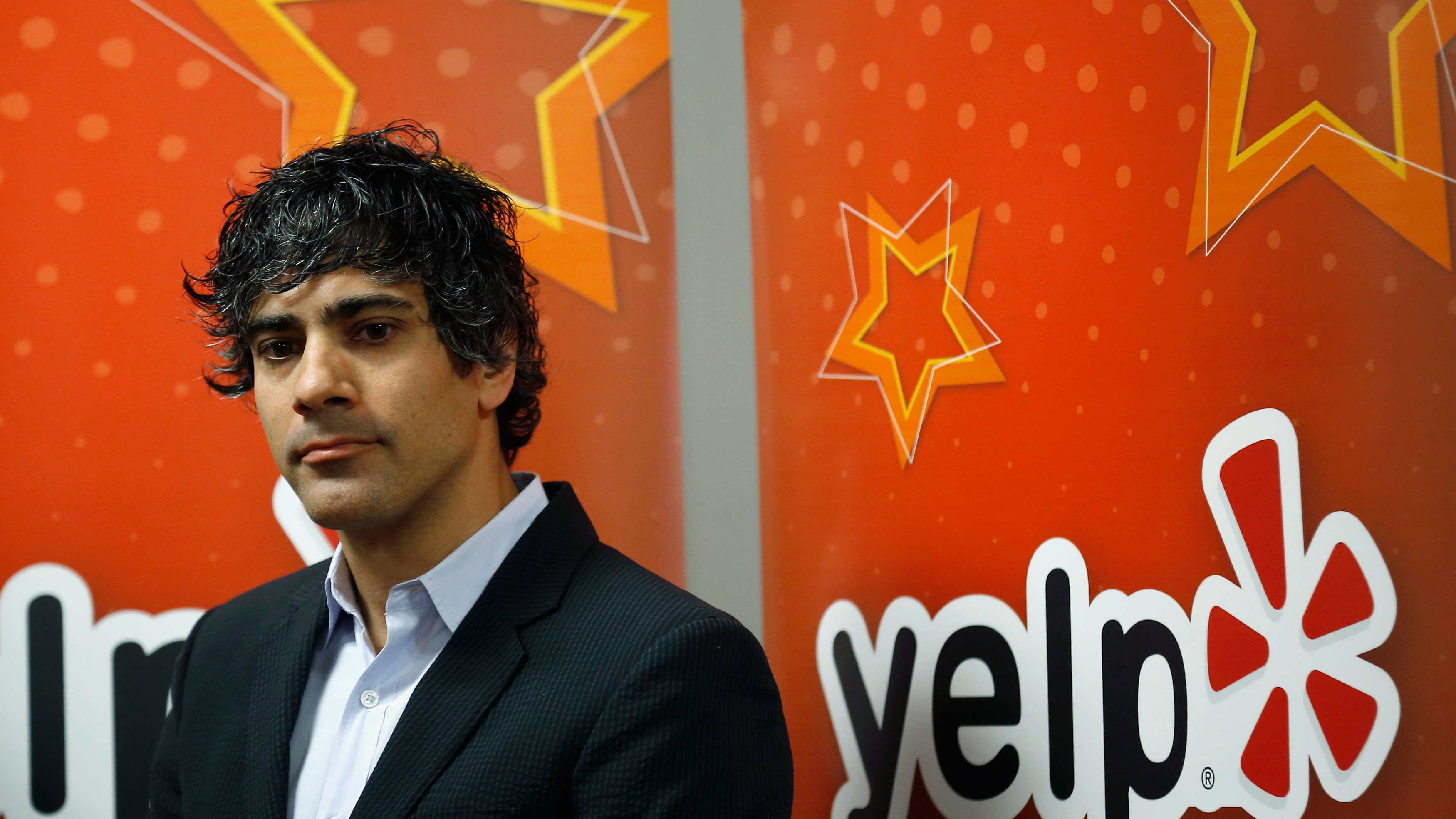 Yelp Inc. CEO and co-founder Jeremy Stoppelman is seen in the Yelp offices in Chicago, Illinois, March 5, 2015. REUTERS/Jim Young (UNITED STATES - Tags: BUSINESS SCIENCE TECHNOLOGY)