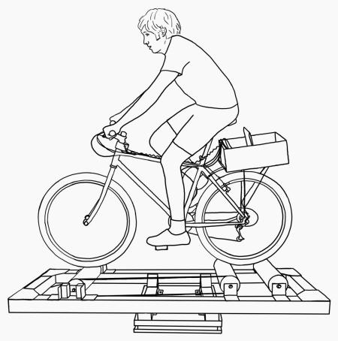man on bicycle diagram