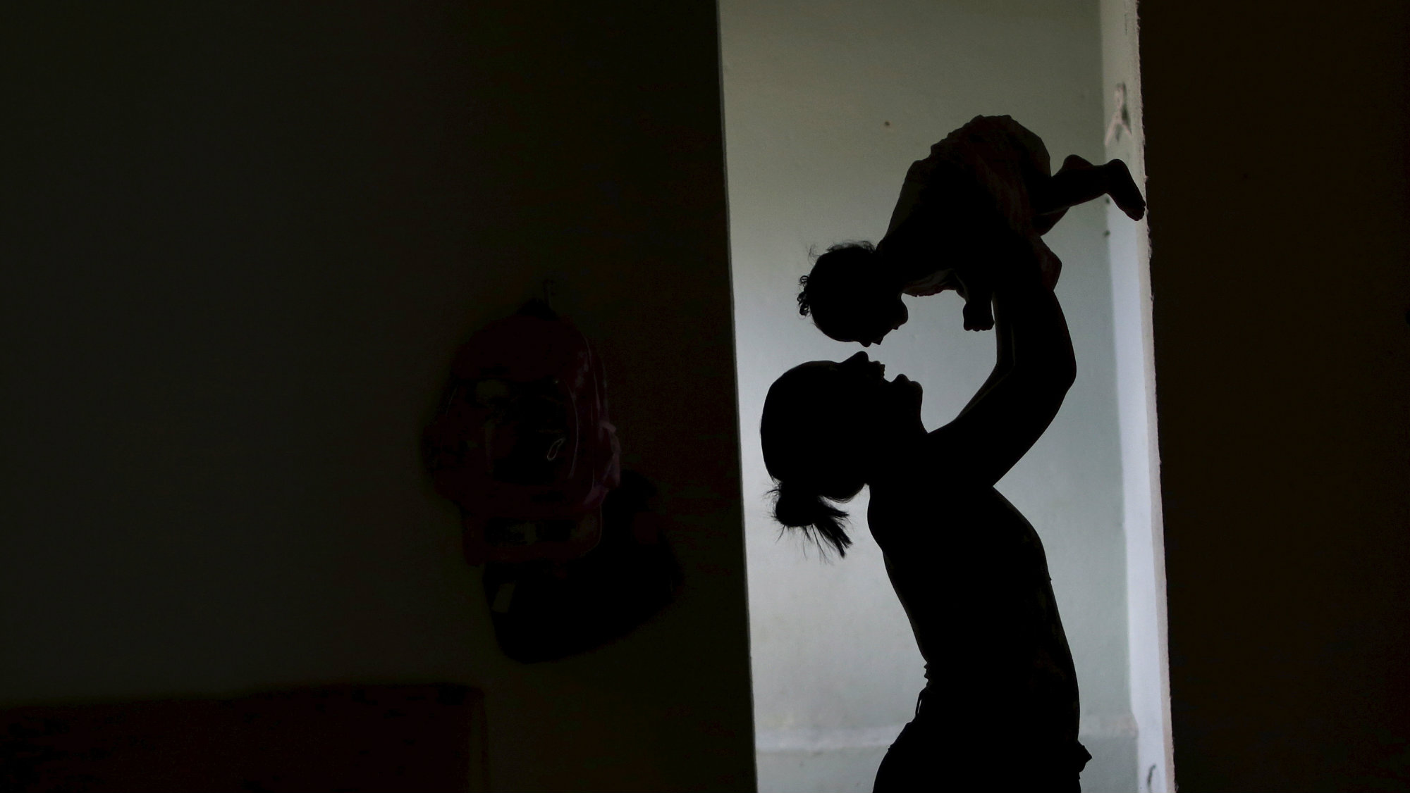 Rosana Vieira Alves holds her 4-month-old daughter Luana Vieira at their house in Olinda, Brazil, February 3, 2016.