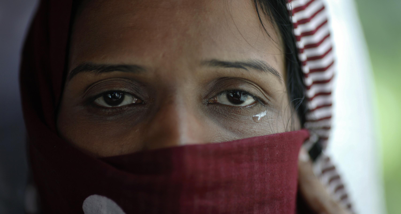 Tears in the eyes of an Ahmadi refugee