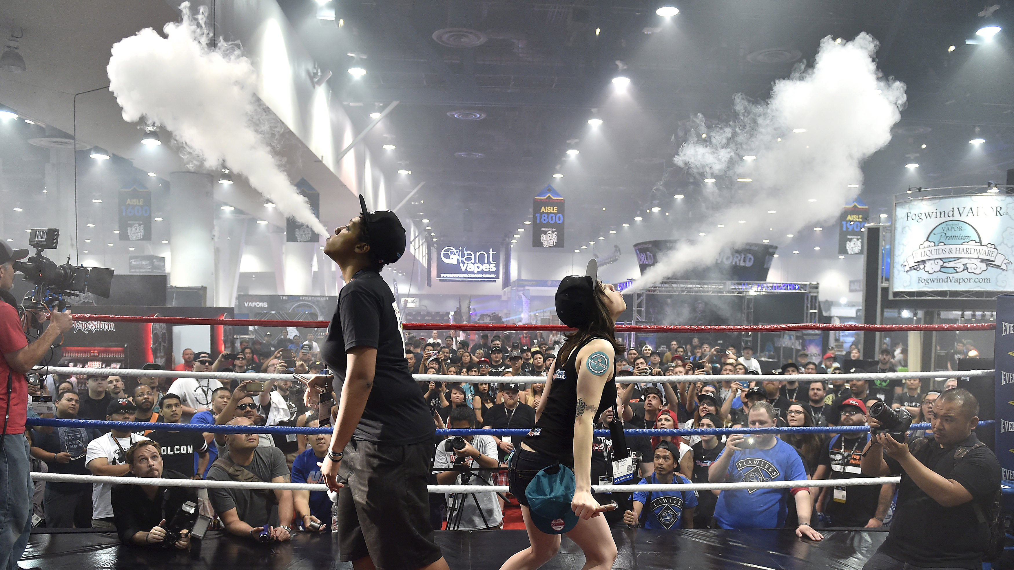 Growing crowds for blowing clouds.