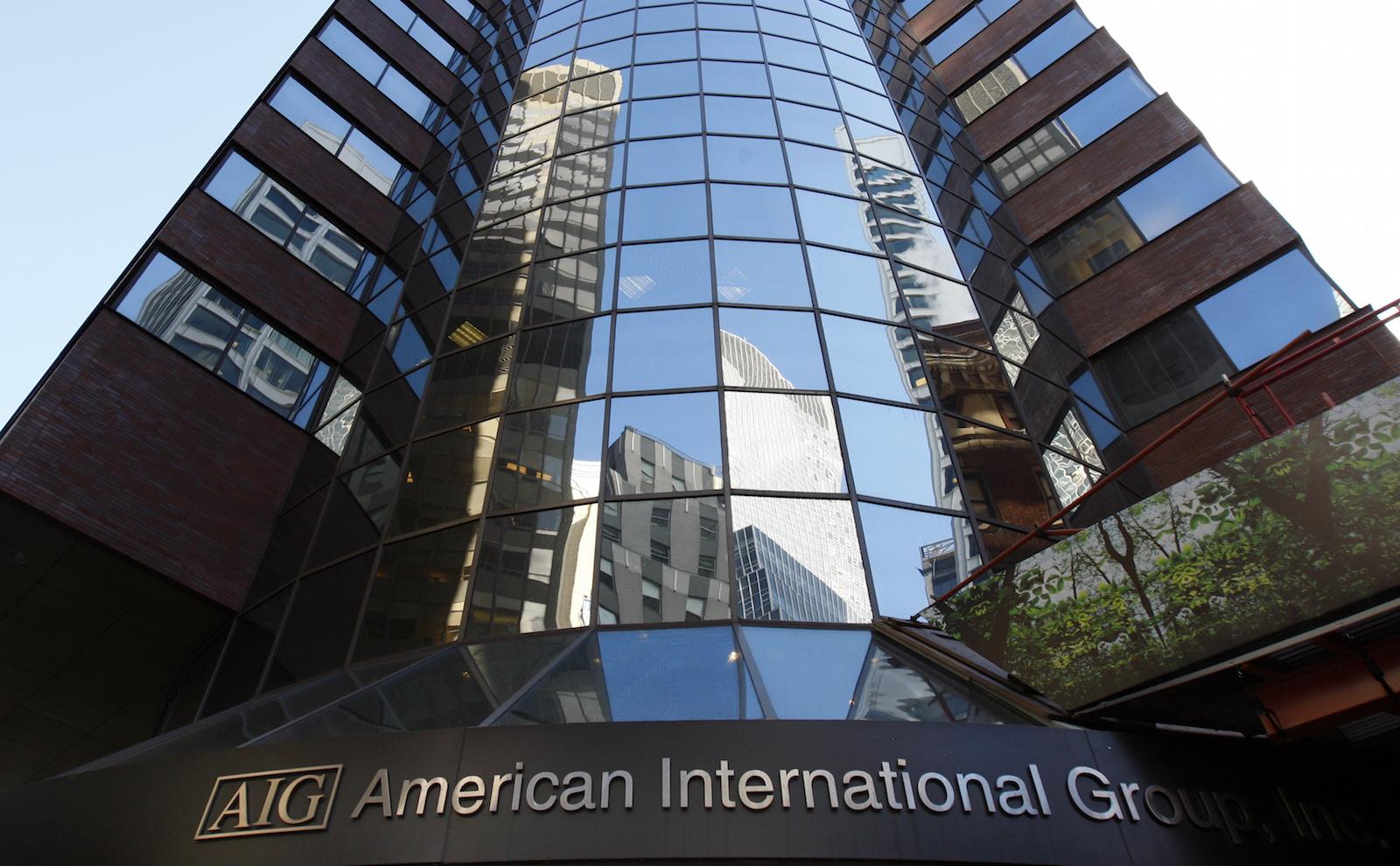 American International Group Inc. (AIG) corporate headquarters in New York, November 10, 2008.     REUTERS/Mike Segar   (UNITED STATES) - RTXAGJE