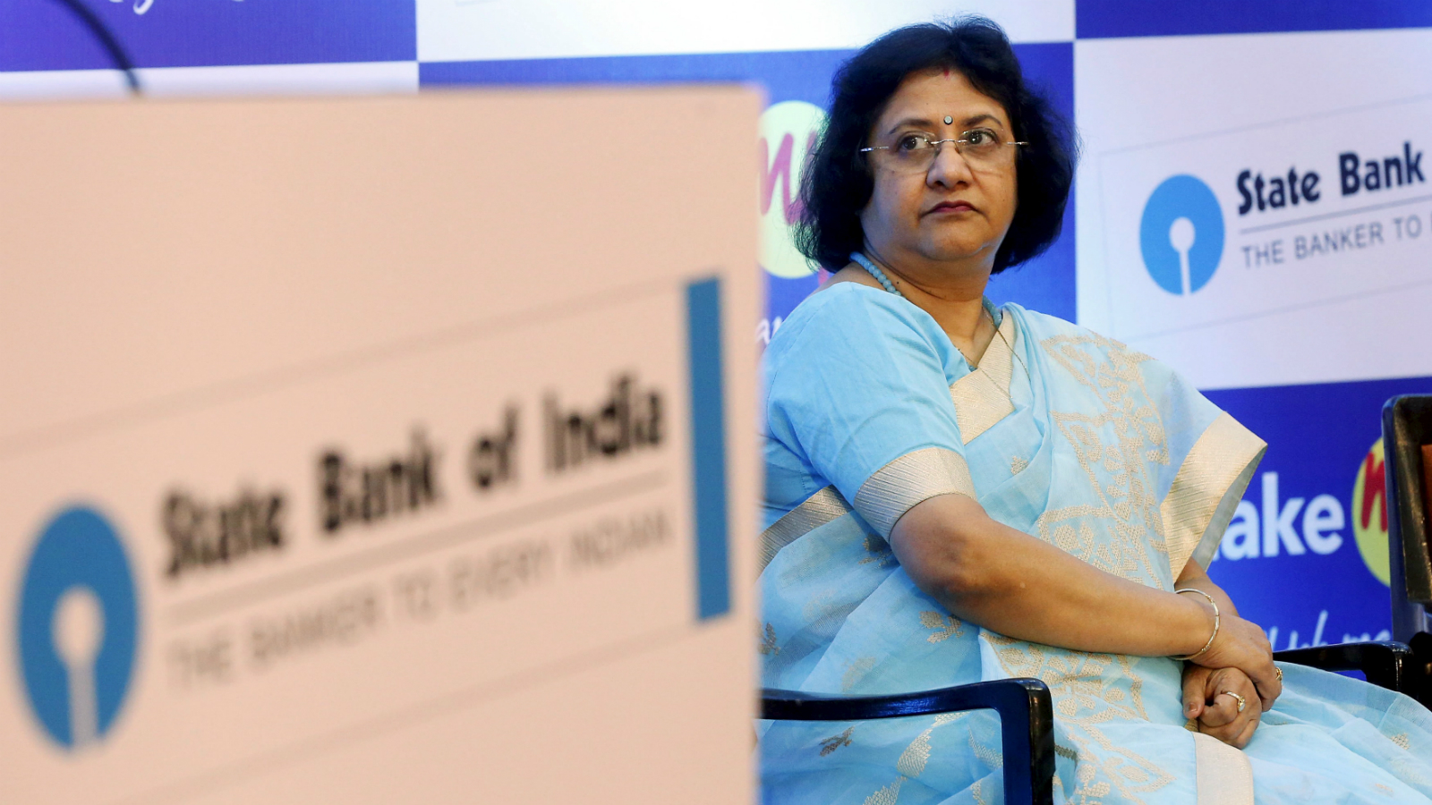 State Bank of India (SBI) chairwoman Arundhati Bhattacharya attends a news conference in Mumbai, India, June 30, 2015. REUTERS/Shailesh Andrade