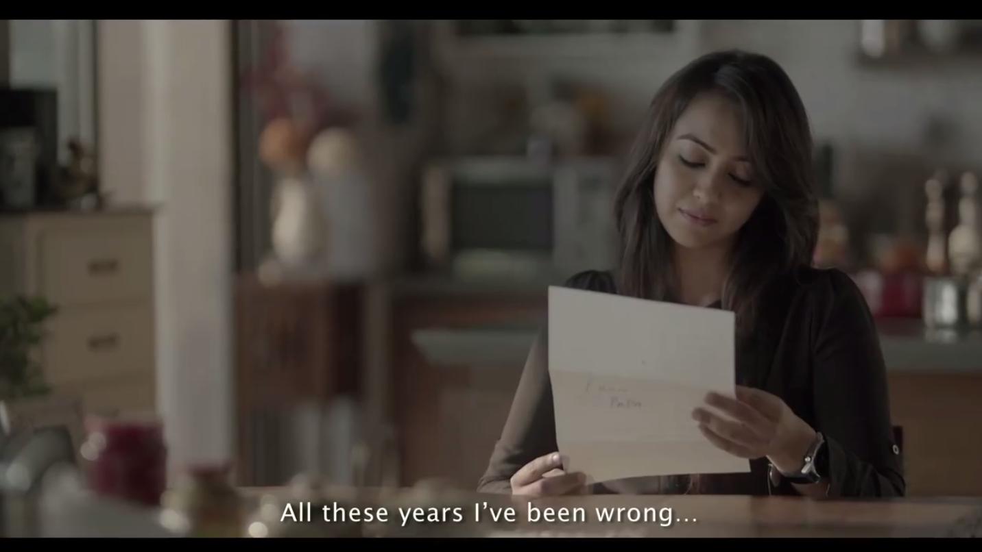Screenshot of Ariel India video.