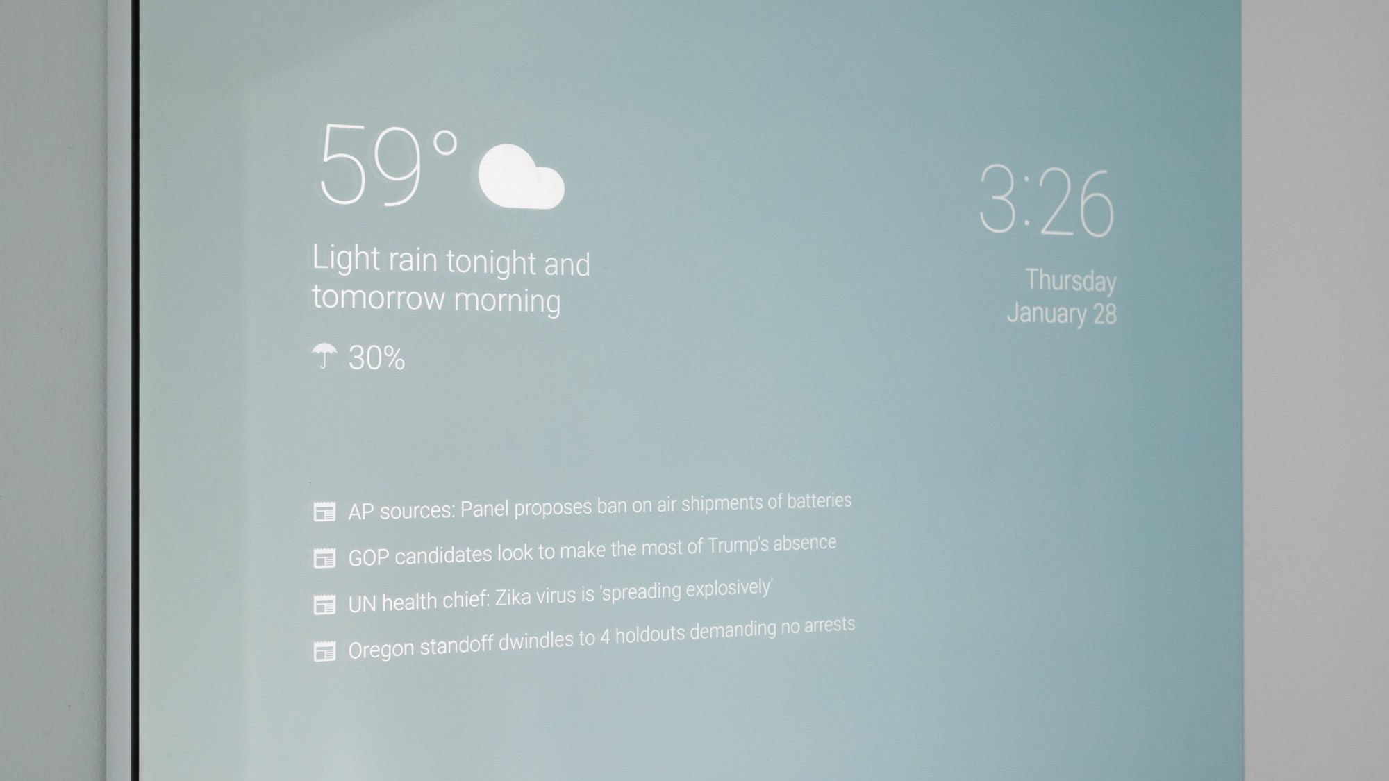 smart mirror google