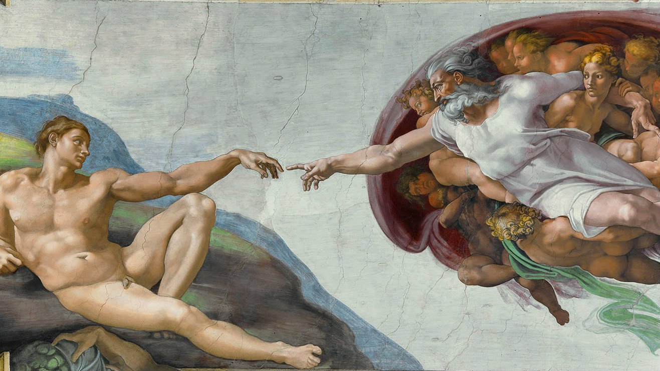 Detail from the Creation of Adam