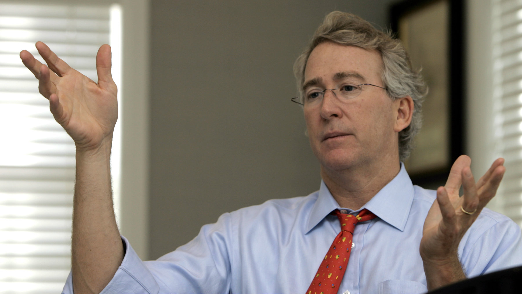 *FILE** Aubrey McClendon, co-founder of Chesapeake Energy Corp., is pictured during an interview in Oklahoma City, in this Nov. 8, 2005 file photo. Associated Press reporters and editors have surveyed proxy statements for most of the S&P 500 companies to provide a full picture of executives' compensation - including stock options, bonuses and perks such as country club memberships. (AP Photo, file)