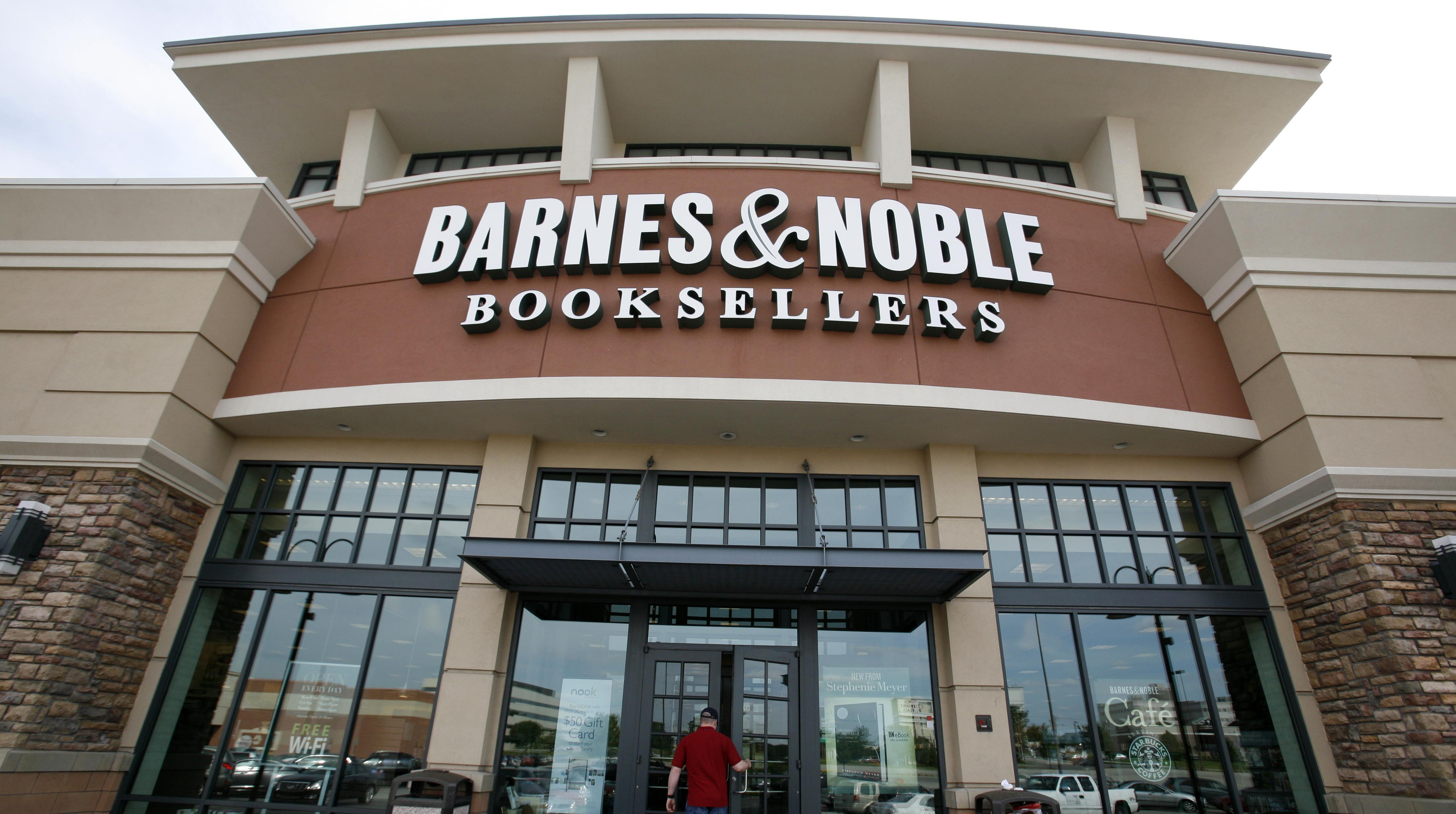 In this photo taken June 8, 2010, a customer enters a Barnes & Noble in Bethel Park, Pa. Barnes & Noble posted a first-quarter loss Tuesday, Aug. 24, 2010, on a sales slump and legal expenses related to its proxy fight with a major shareholder.
