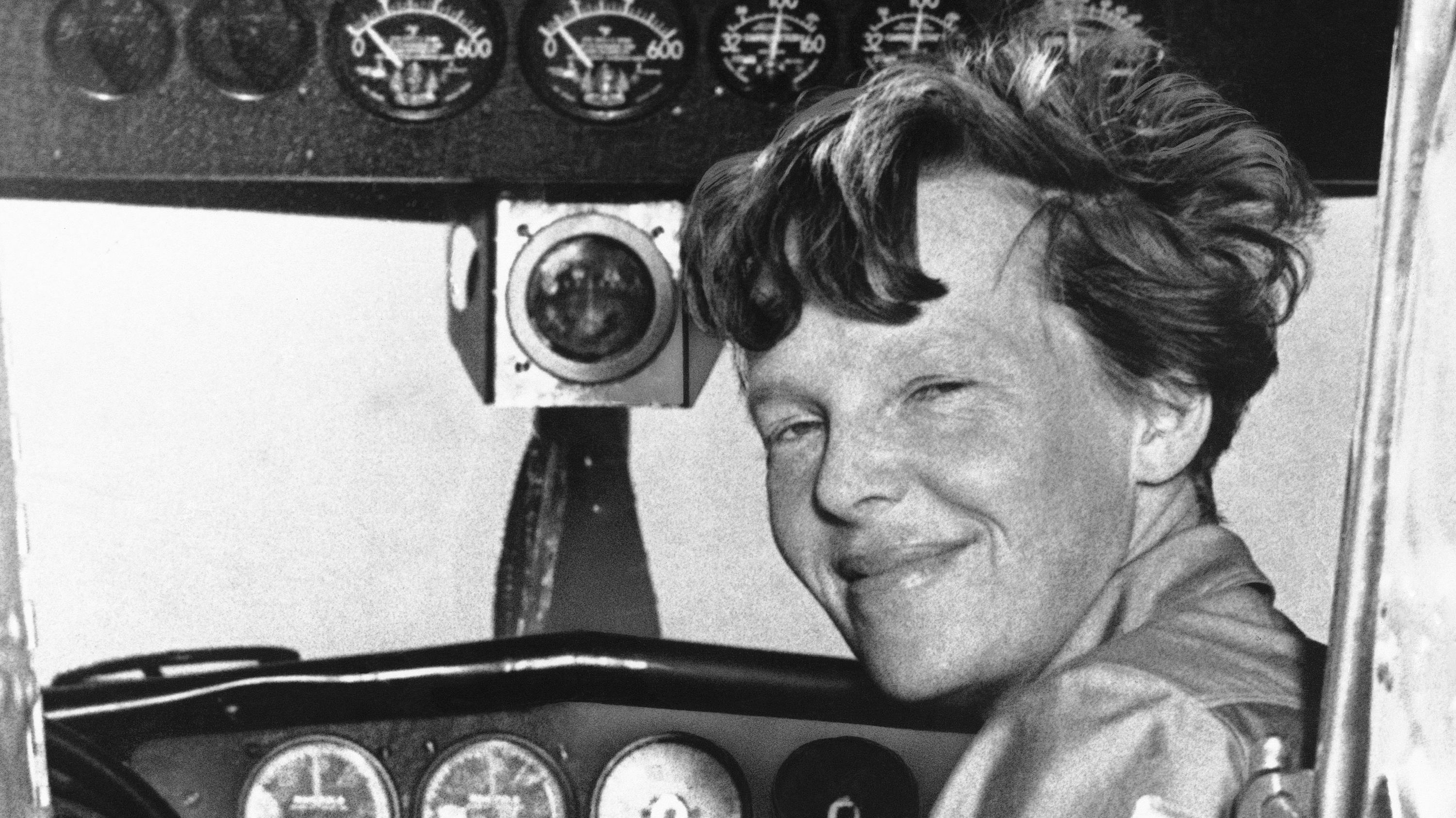 Amelia Earhart poses in this undated photo. (AP Photo)