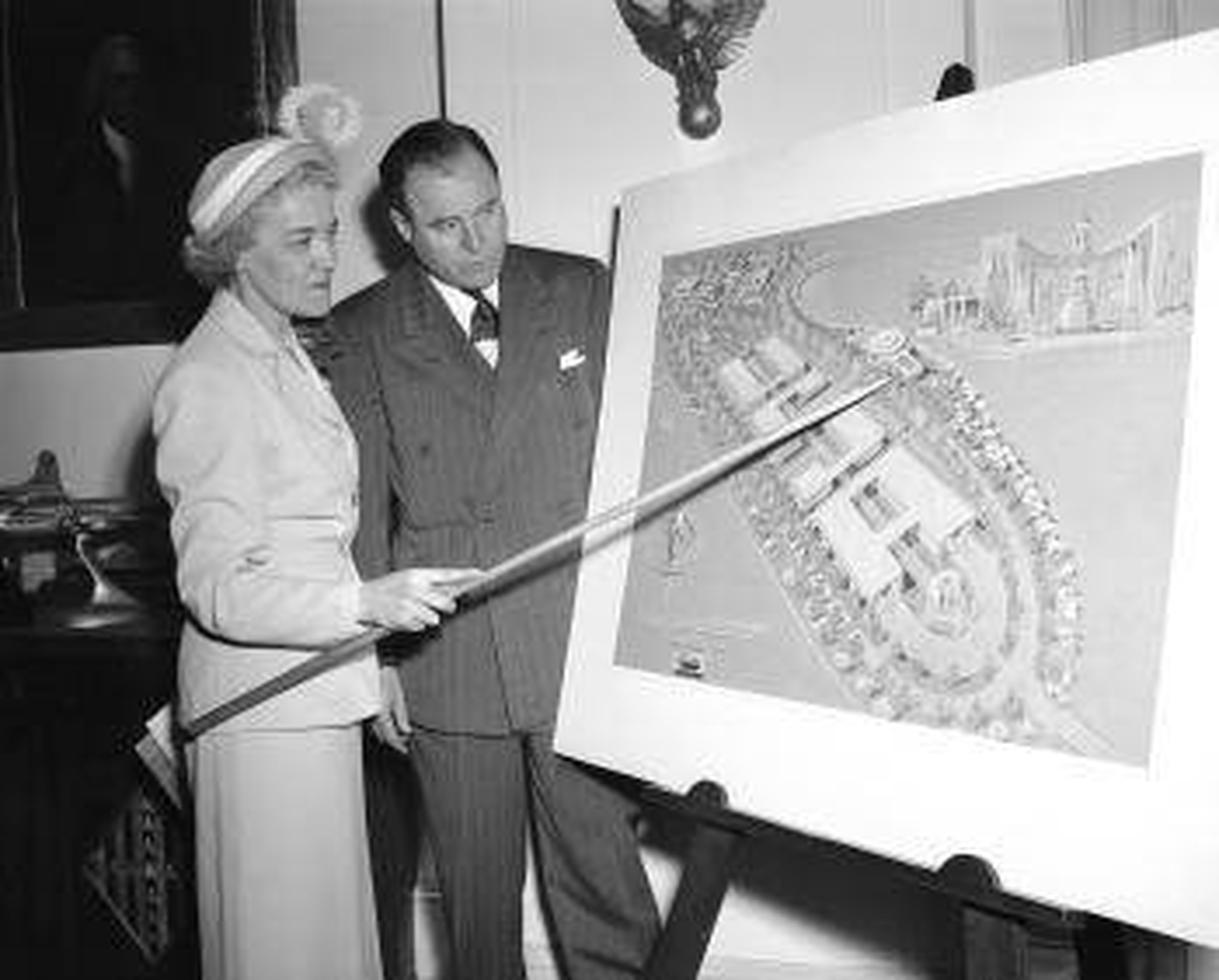 Senators Margaret Chase Smith and Edward McGrath in 1949.