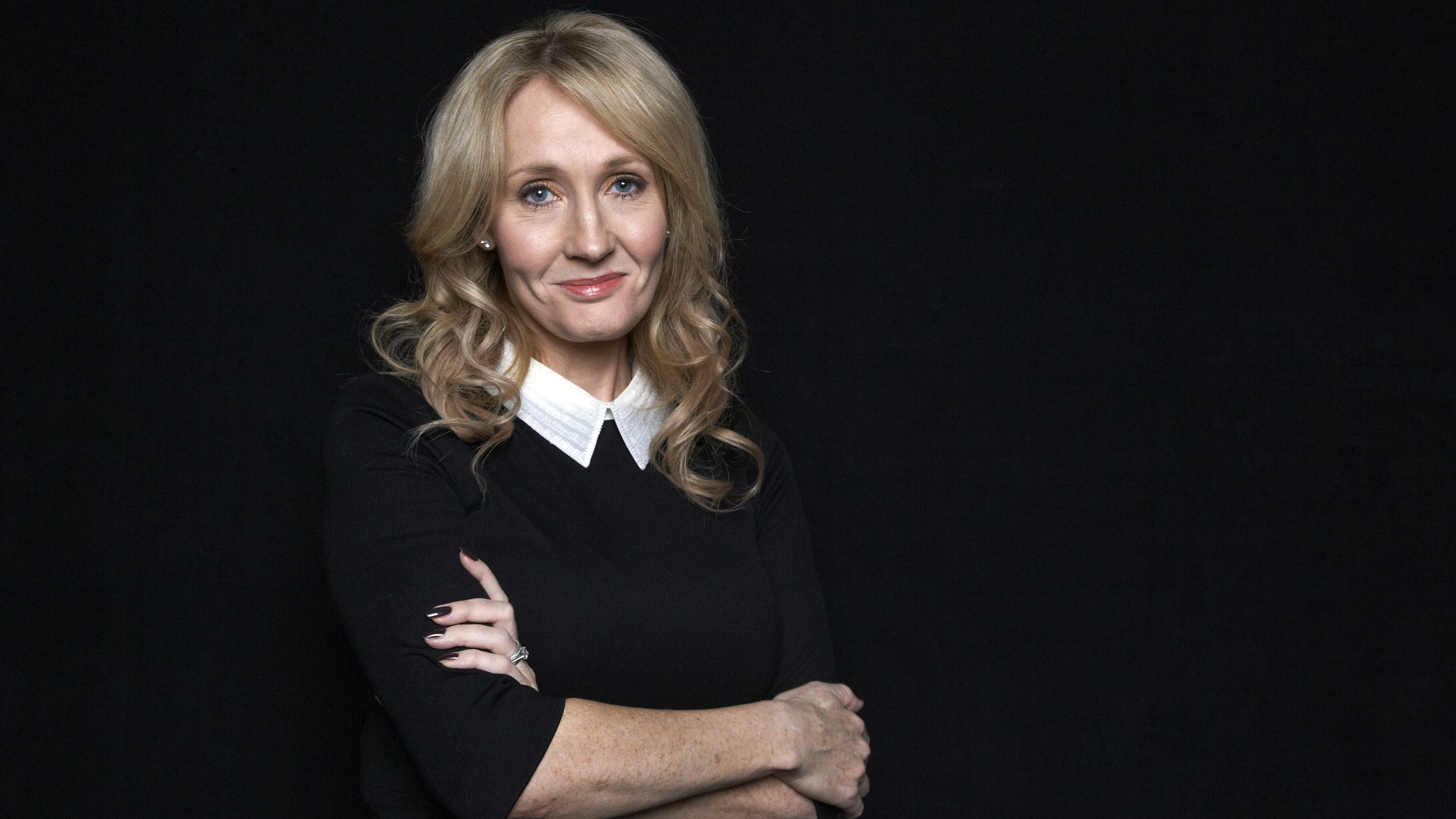 "FILE - This Oct. 16, 2012 file photo shows author J.K. Rowling at an appearance to promote her latest book ""The Casual Vacancy,"" at The David H. Koch Theater in New York."