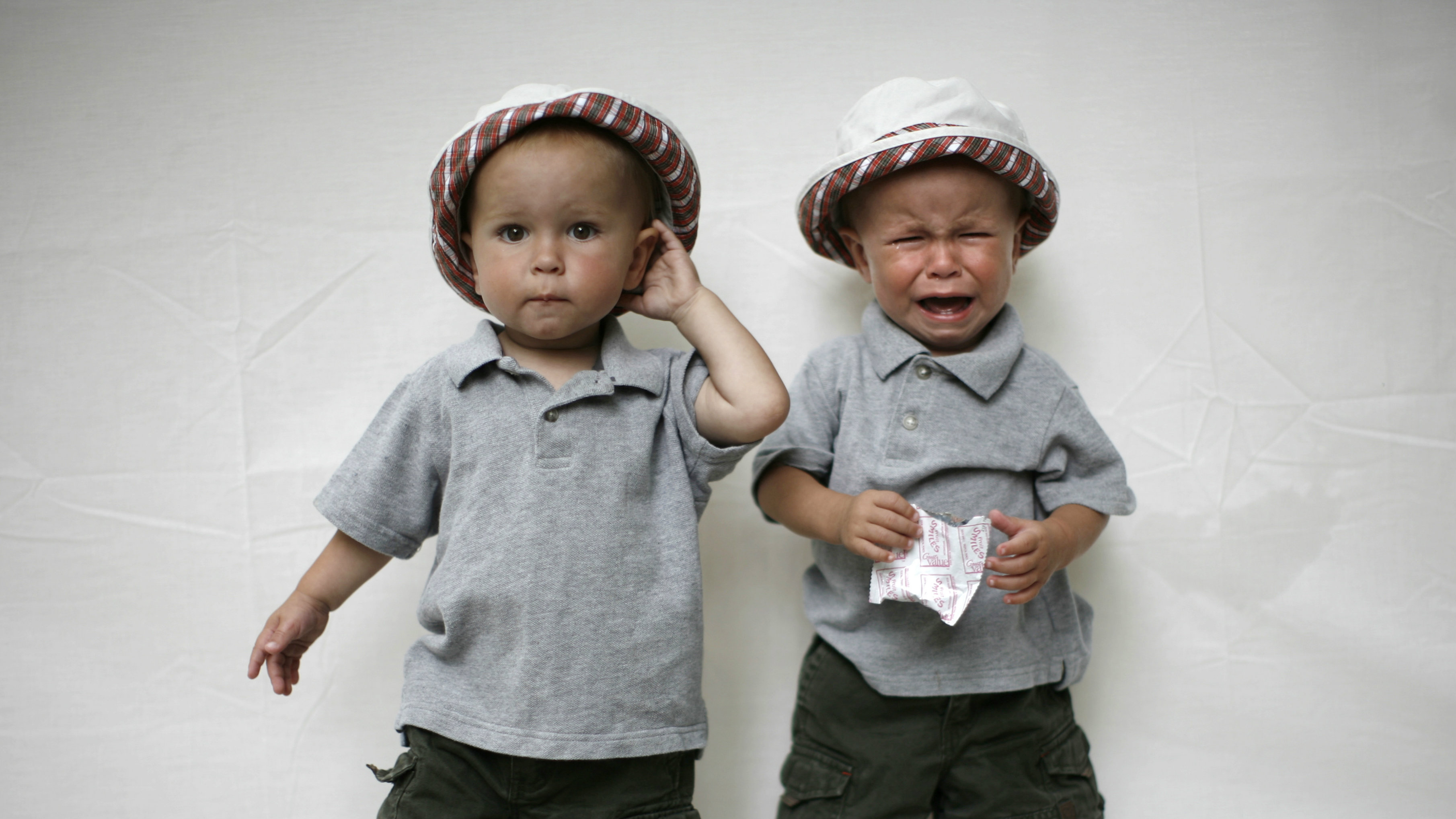 crying twin baby