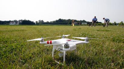Someone thought it would be a good idea to fly a drone at