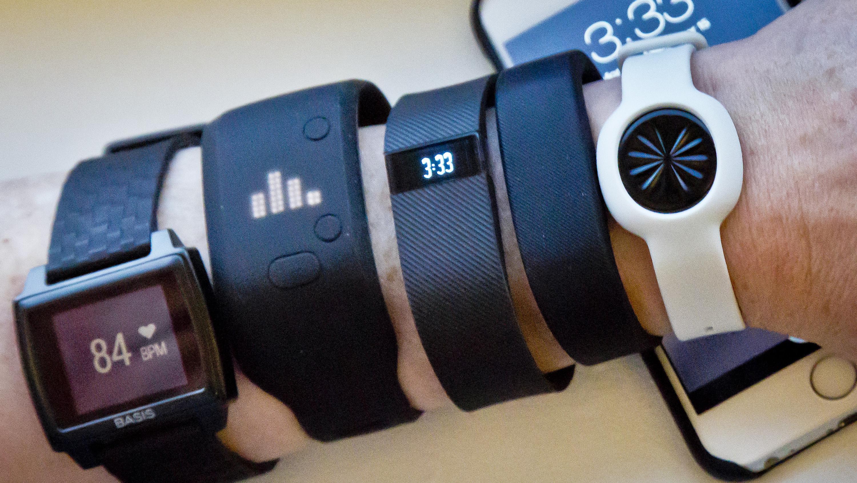 Basis Peak; Adidas Fit Smart; Fitbit Charge, Sony SmartBand; Jawbone Move