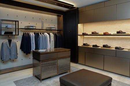 Inside the new Brioni Store on May 21, 2014 in Frankfurt am Main, Germany.